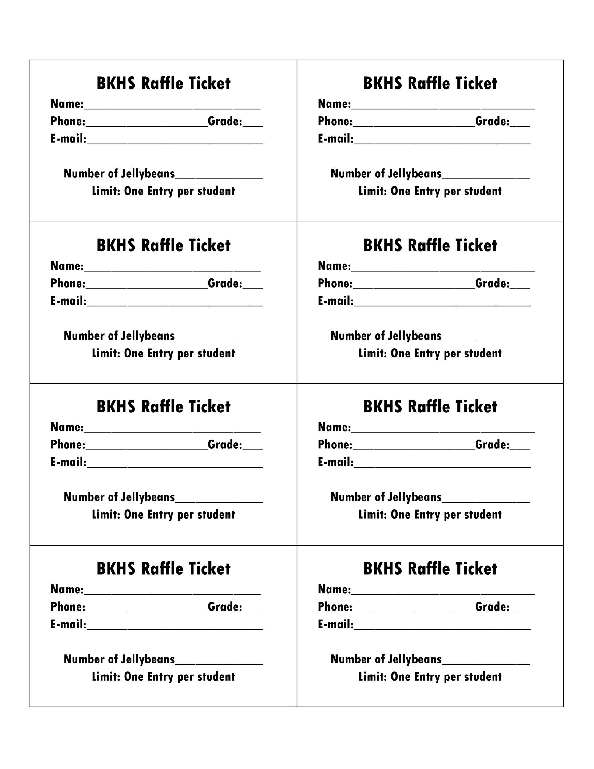 40+ Free Editable Raffle  Movie Ticket Templates - free printable raffle ticket template