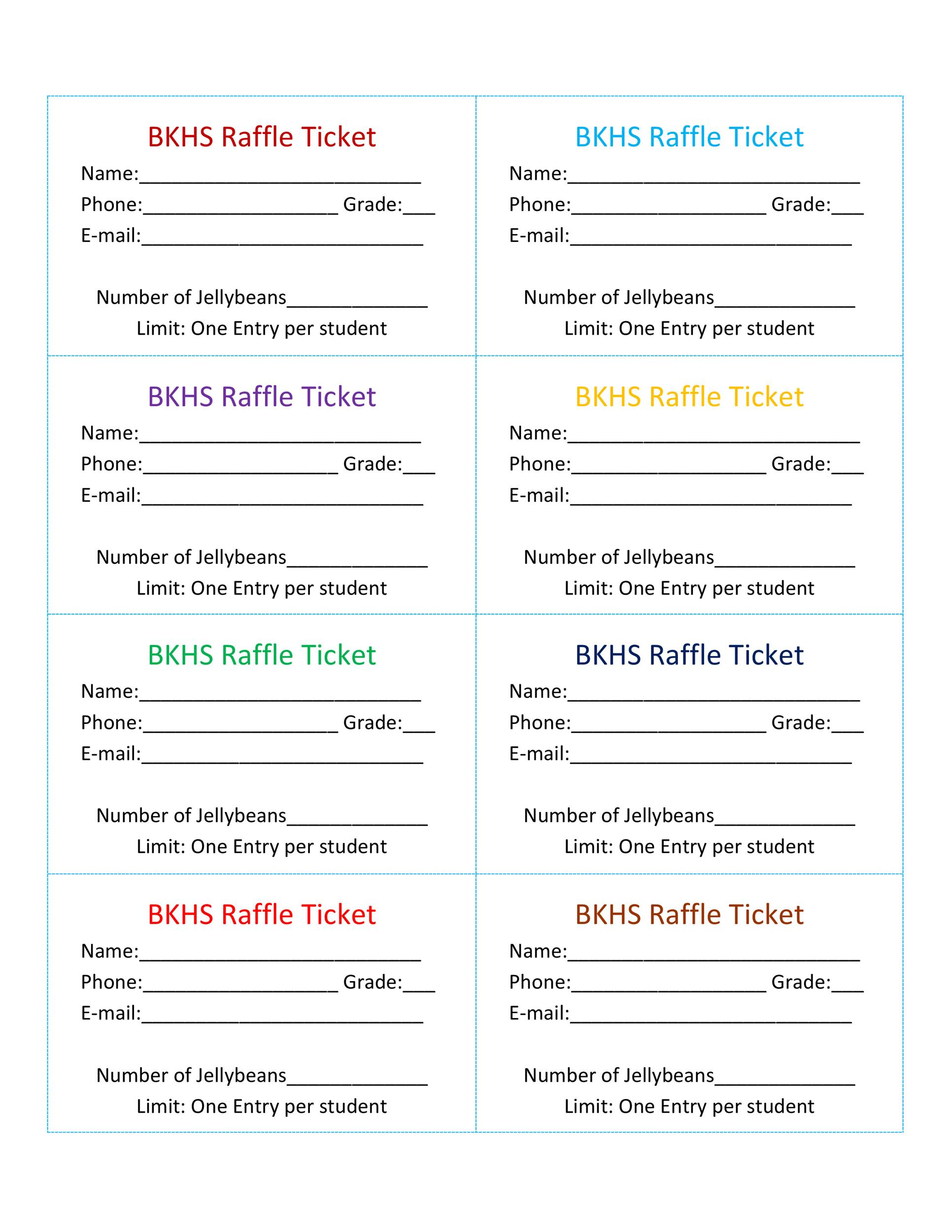 40+ Free Editable Raffle  Movie Ticket Templates - Plate Sale Ticket Template