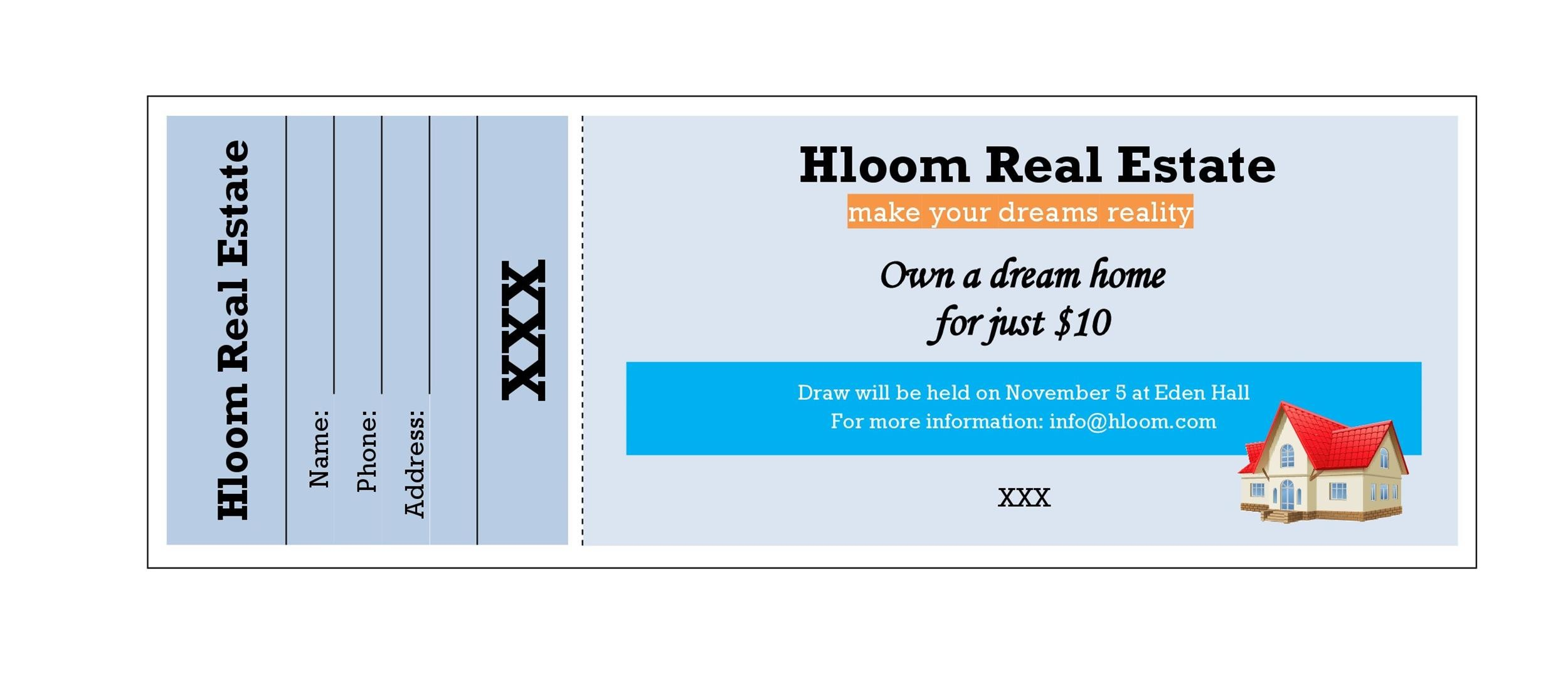 raffle tickets for sale - Josemulinohouse - Plate Sale Ticket Template