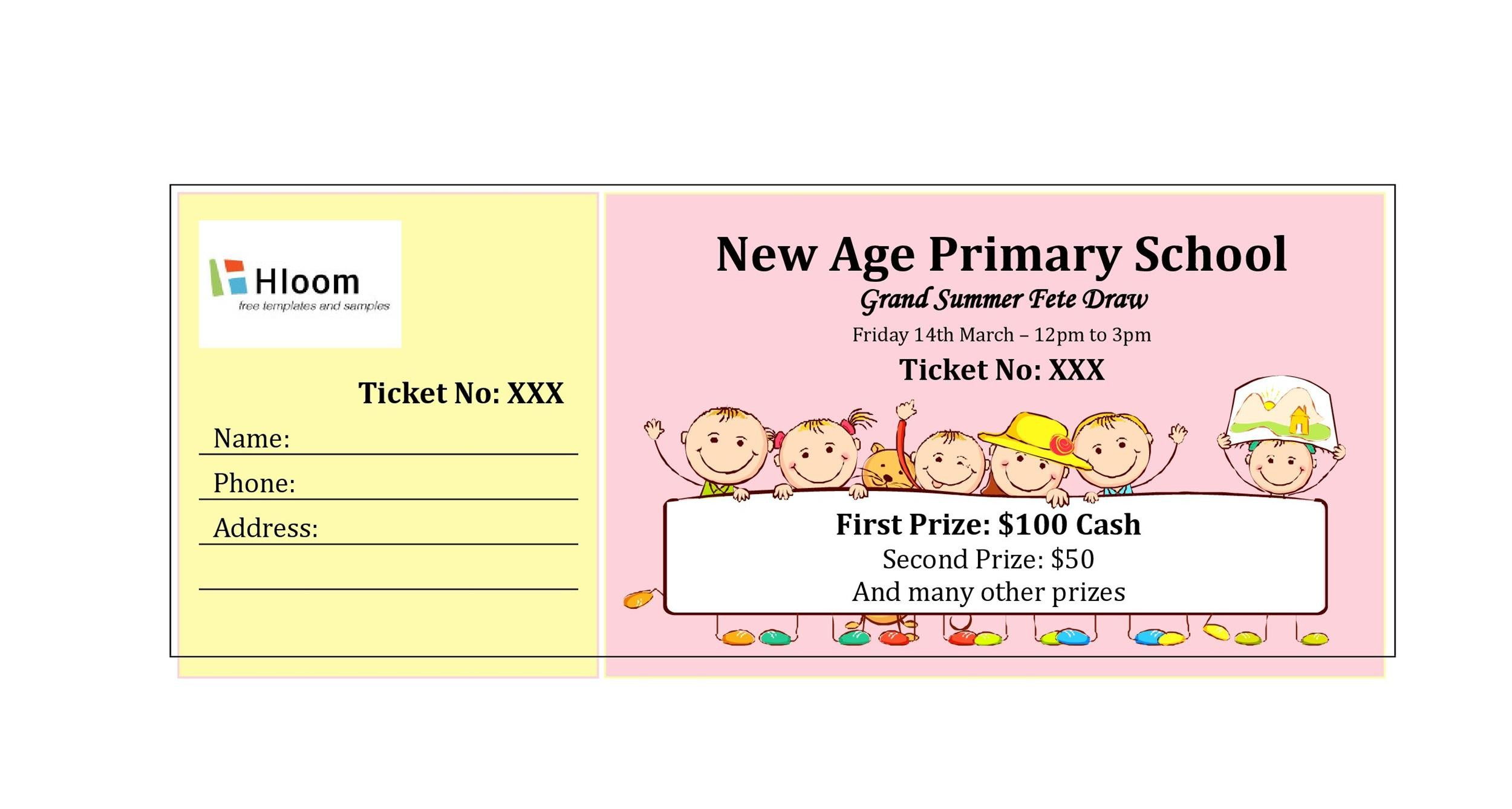40+ Free Editable Raffle  Movie Ticket Templates - raffle ticket prizes