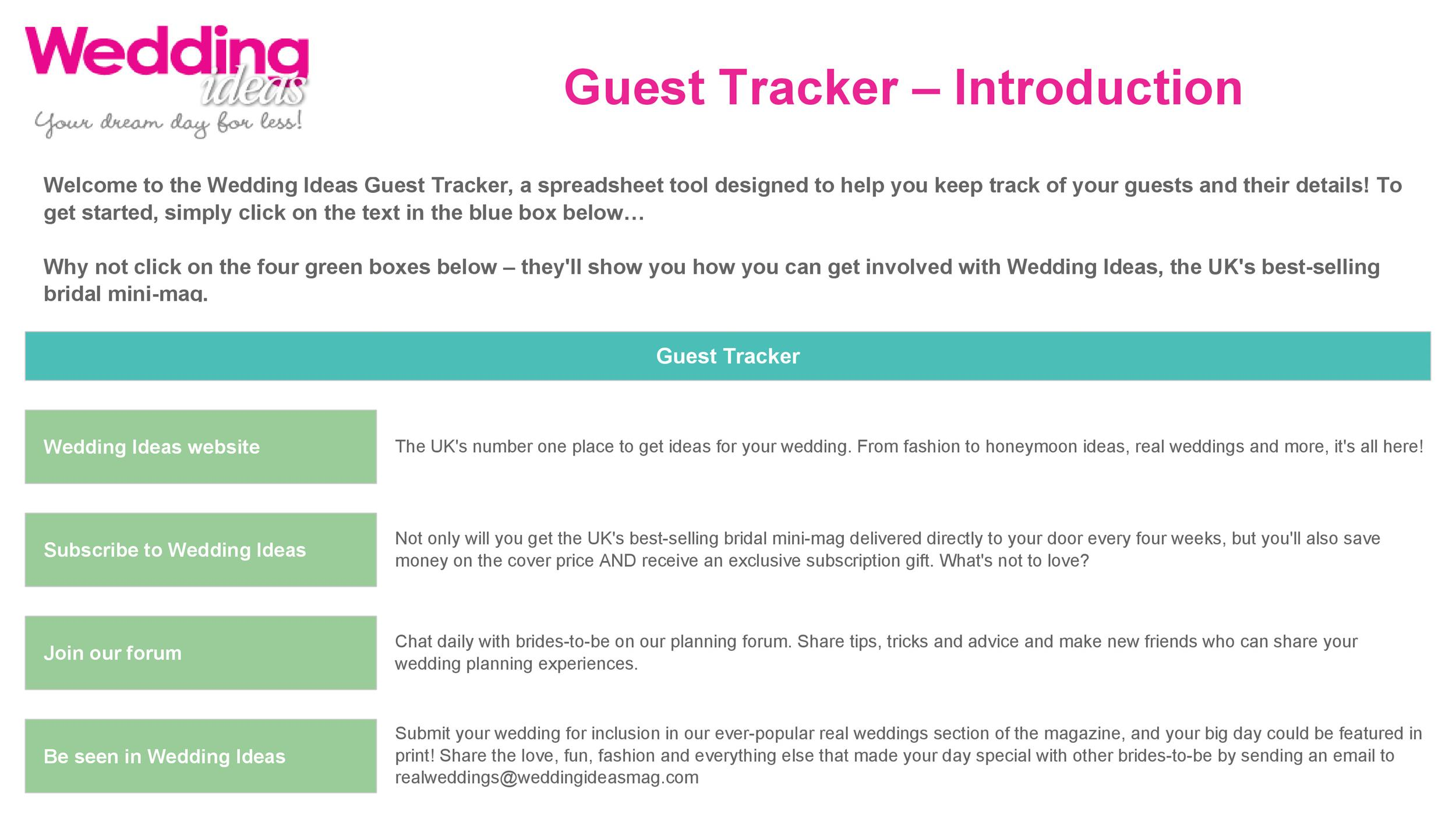 35+ Beautiful Wedding Guest List  Itinerary Templates