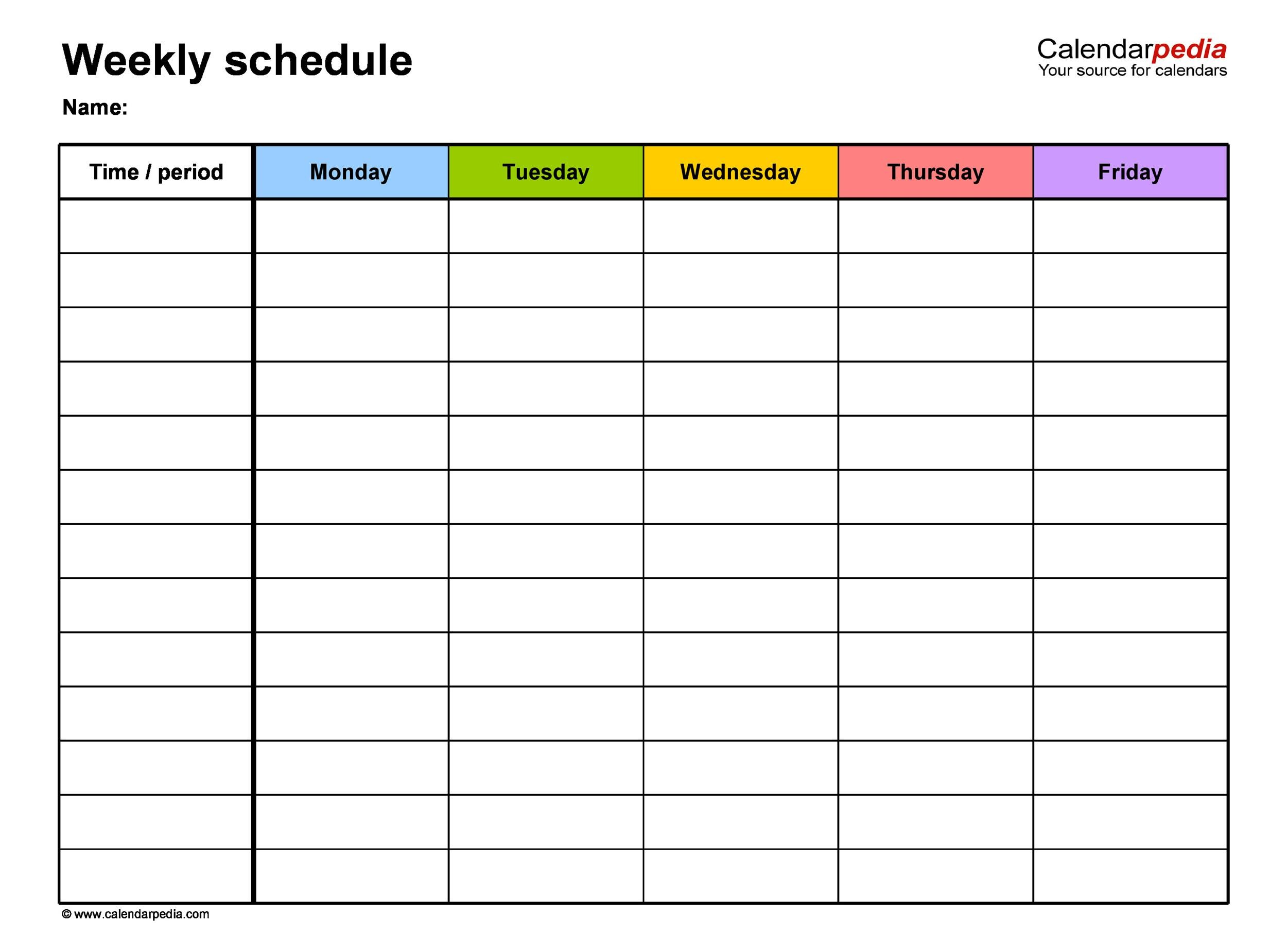 17 Perfect Daily Work Schedule Templates - Template Lab - work schedule