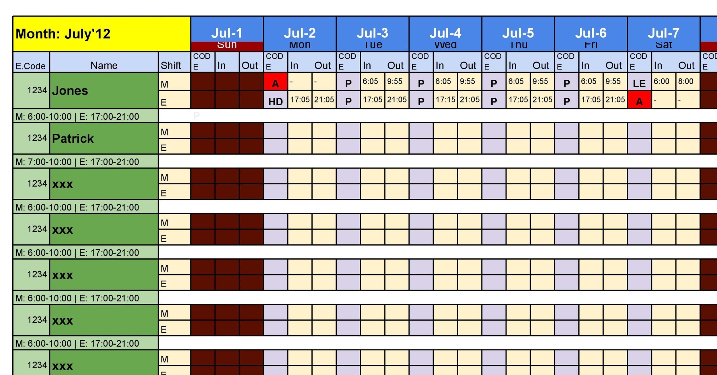 38 Free Printable Attendance Sheet Templates - printable attendance chart