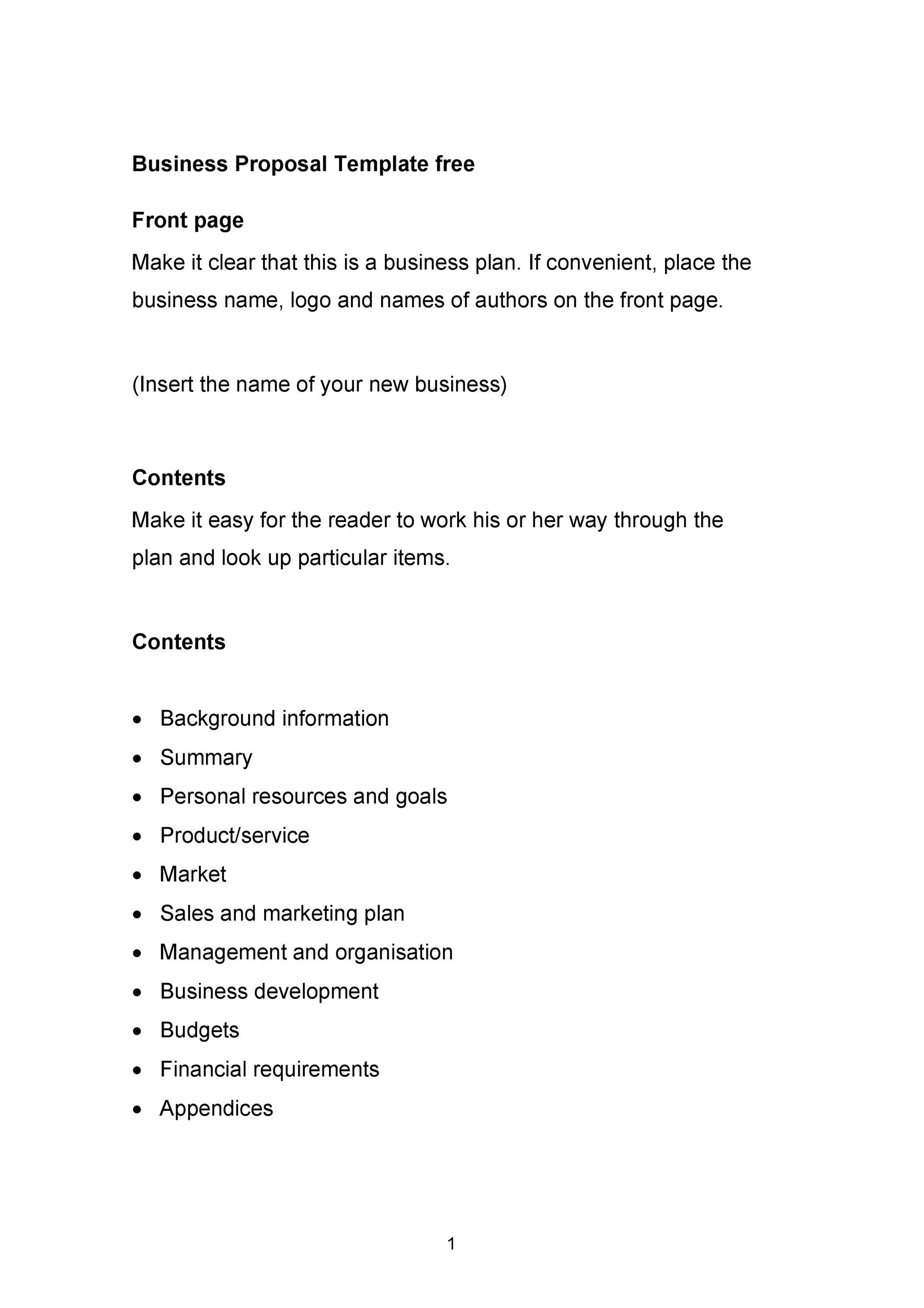 30+ Business Proposal Templates  Proposal Letter Samples - sample business proposals
