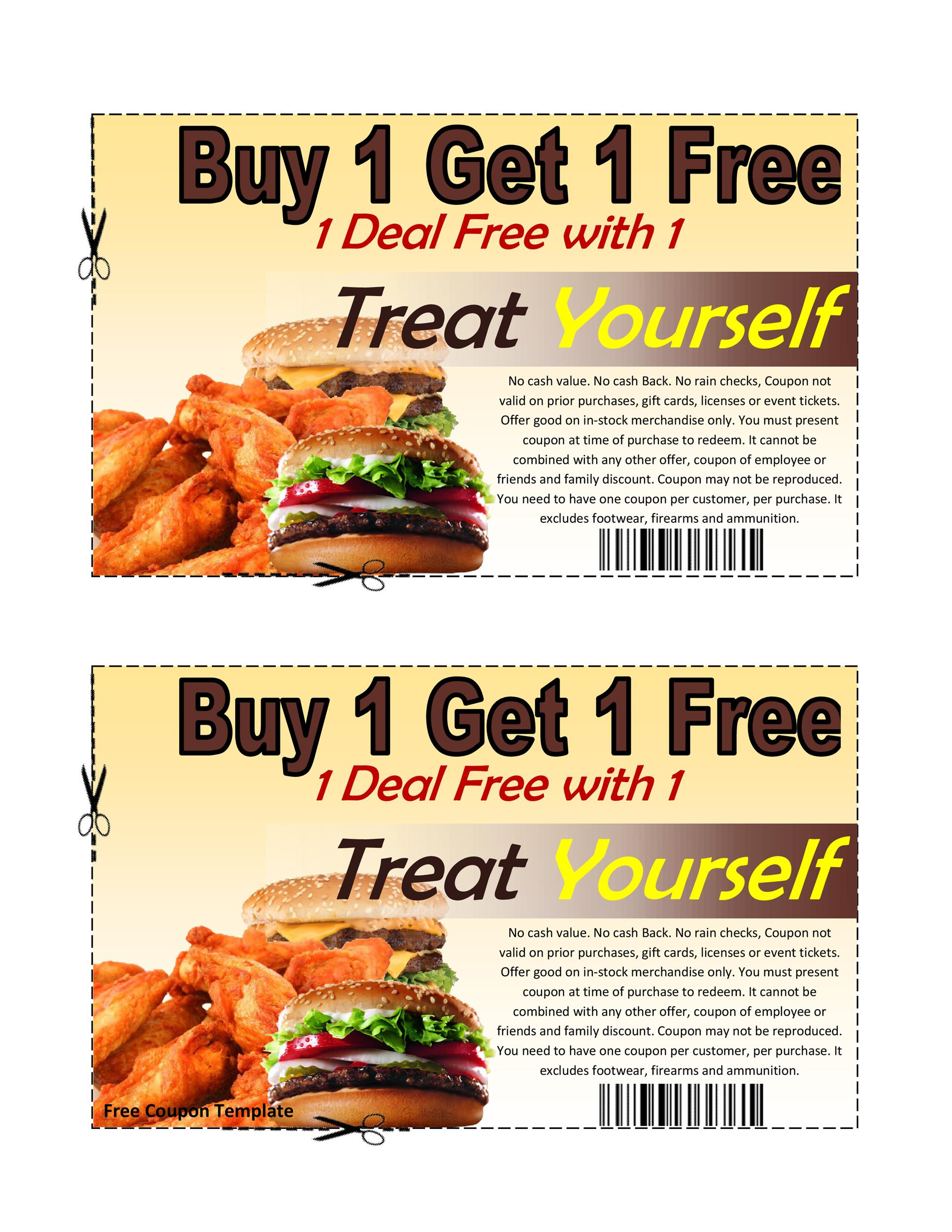 50 Free Coupon Templates - Template Lab - food voucher template