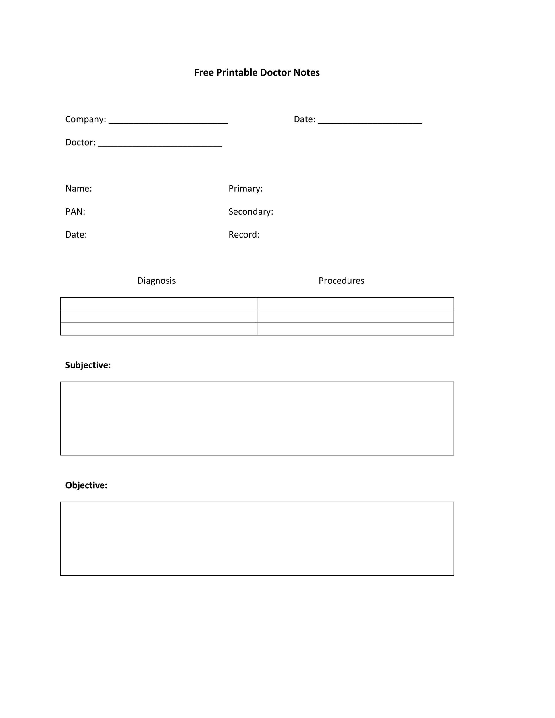 25+ Free Doctor Note / Excuse Templates - Template Lab - doctor note
