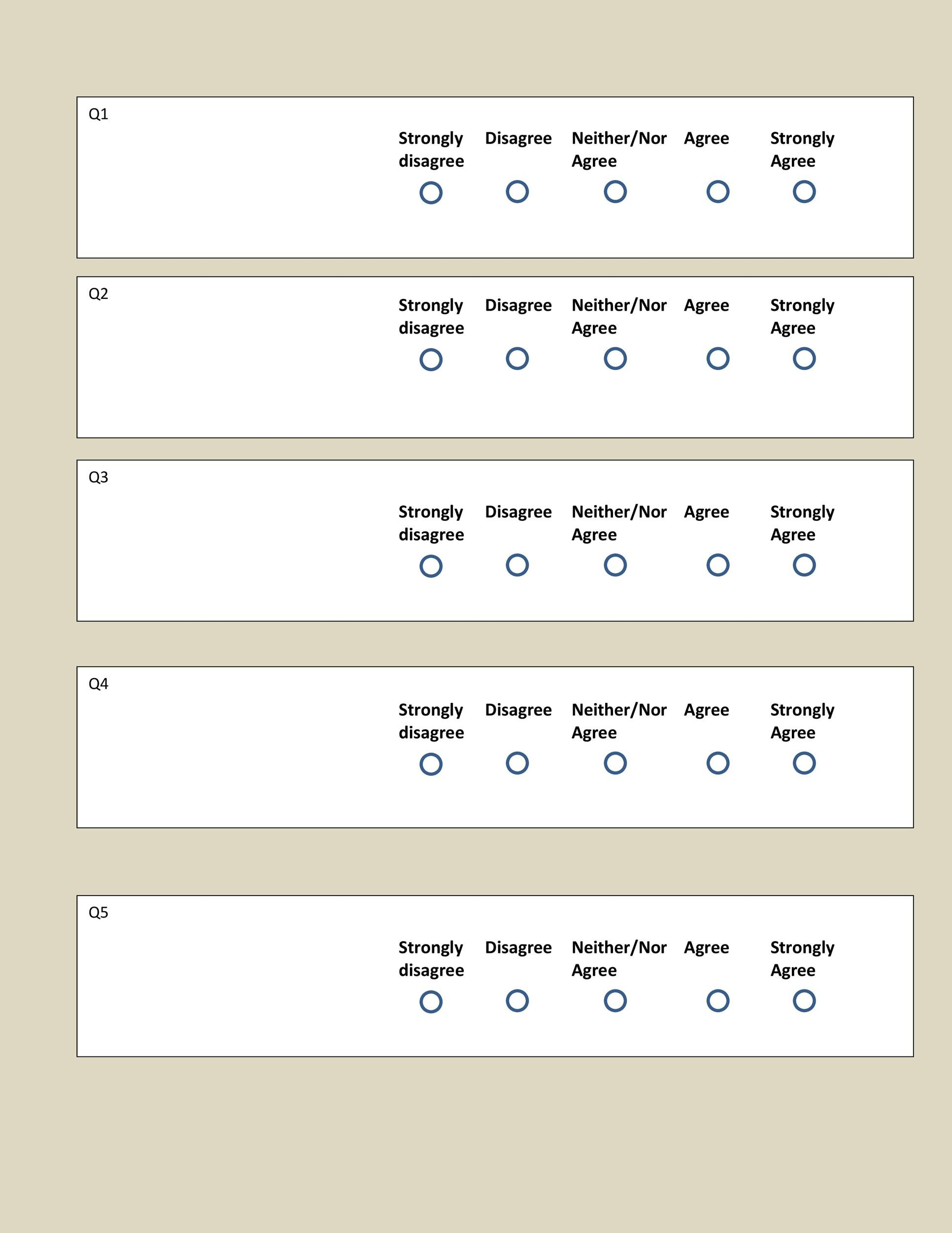 30 Free Likert Scale Templates  Examples - Template Lab - likert scale template
