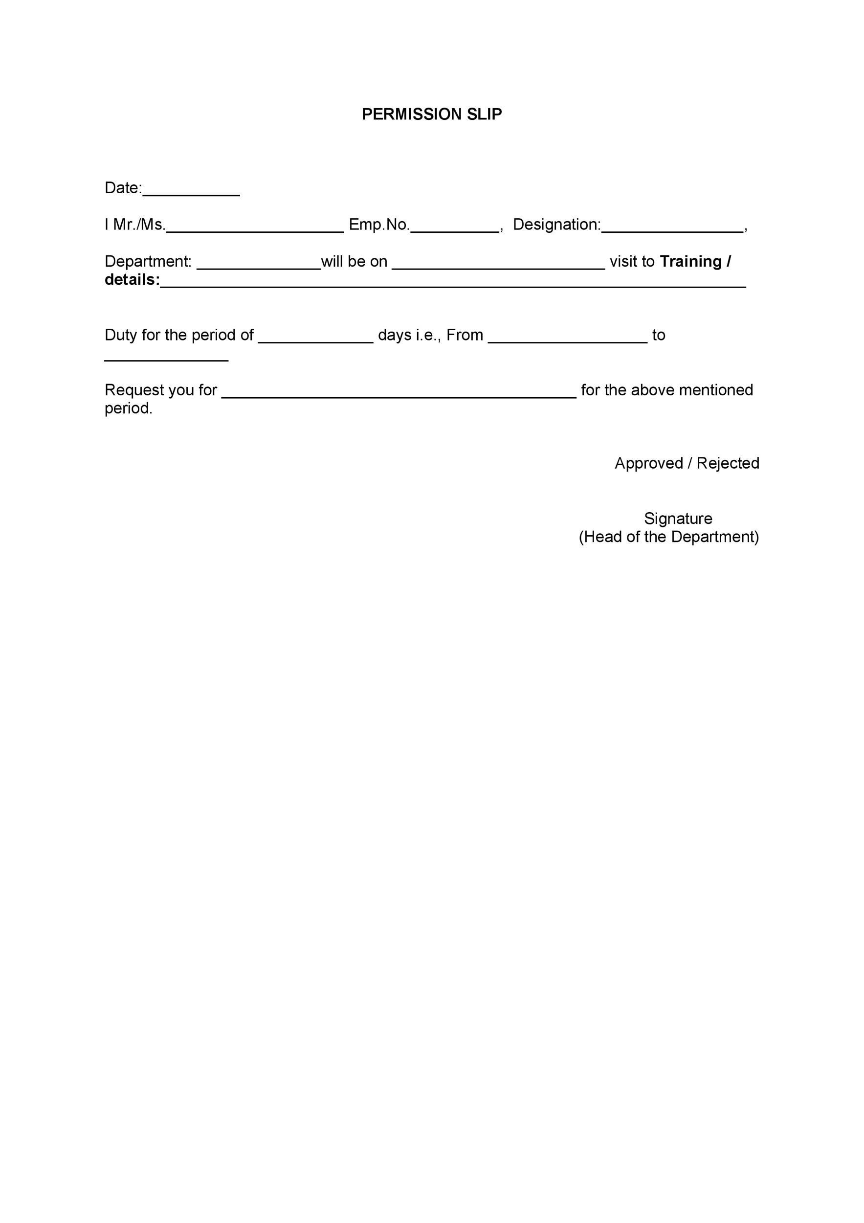 35 Permission Slip Templates  Field Trip Forms - permission slip template