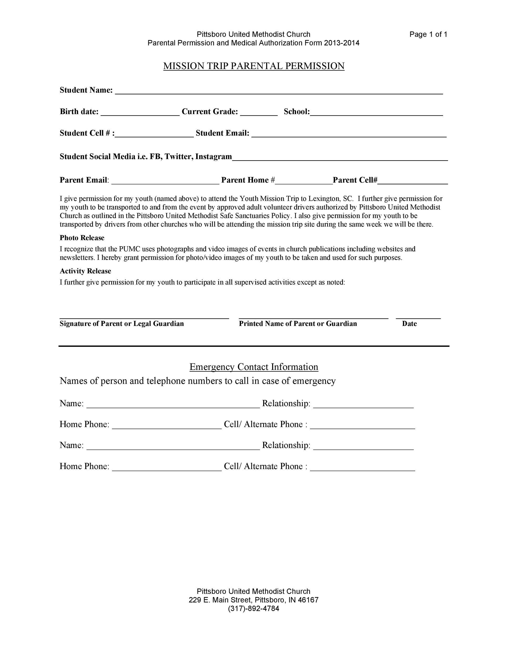 parent permission form - Lookbookeyes - parent consent forms