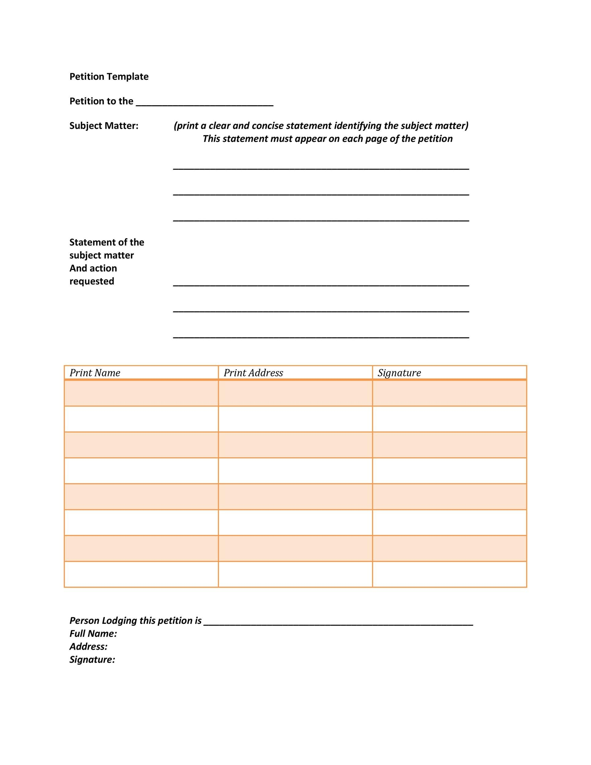 30 Petition Templates + How To Write Petition Guide - free petition templates examples