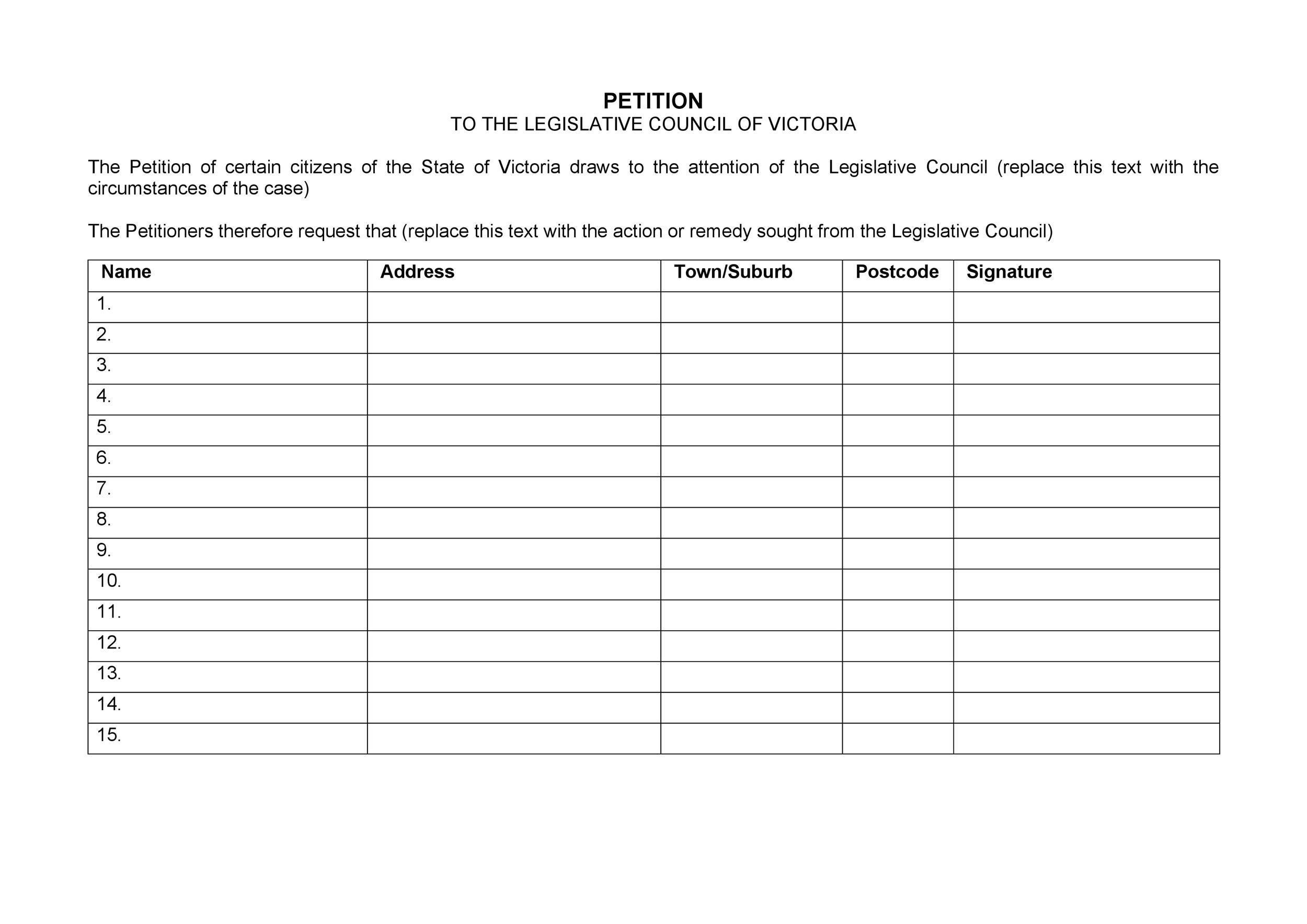 30 Petition Templates + How To Write Petition Guide