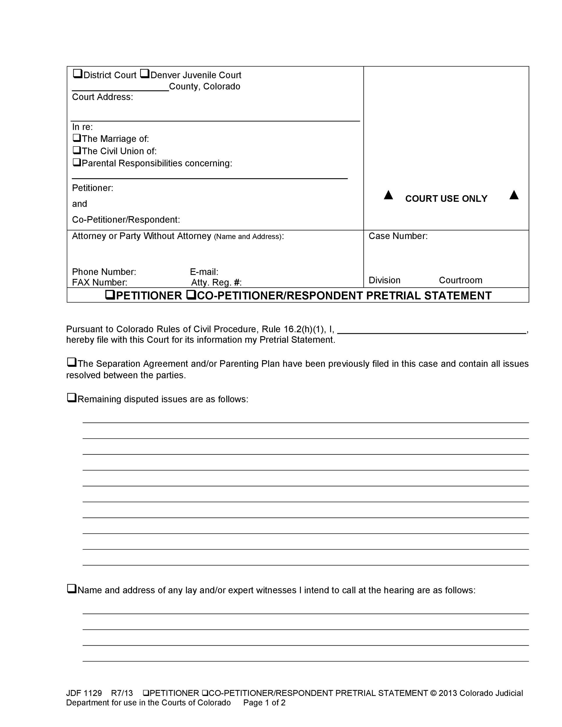 Court Petition Template 5 petition templates free pdf word