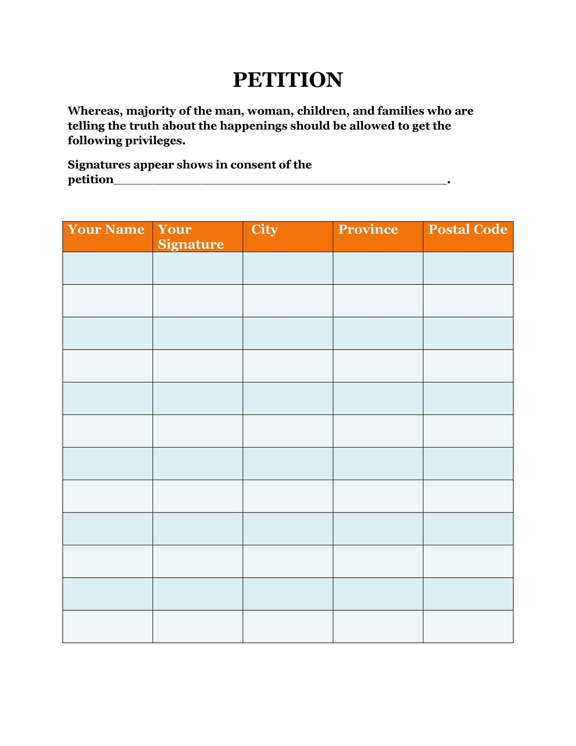 Petition Format Petition Image Petition Templates Word Excel Pdf - petition examples