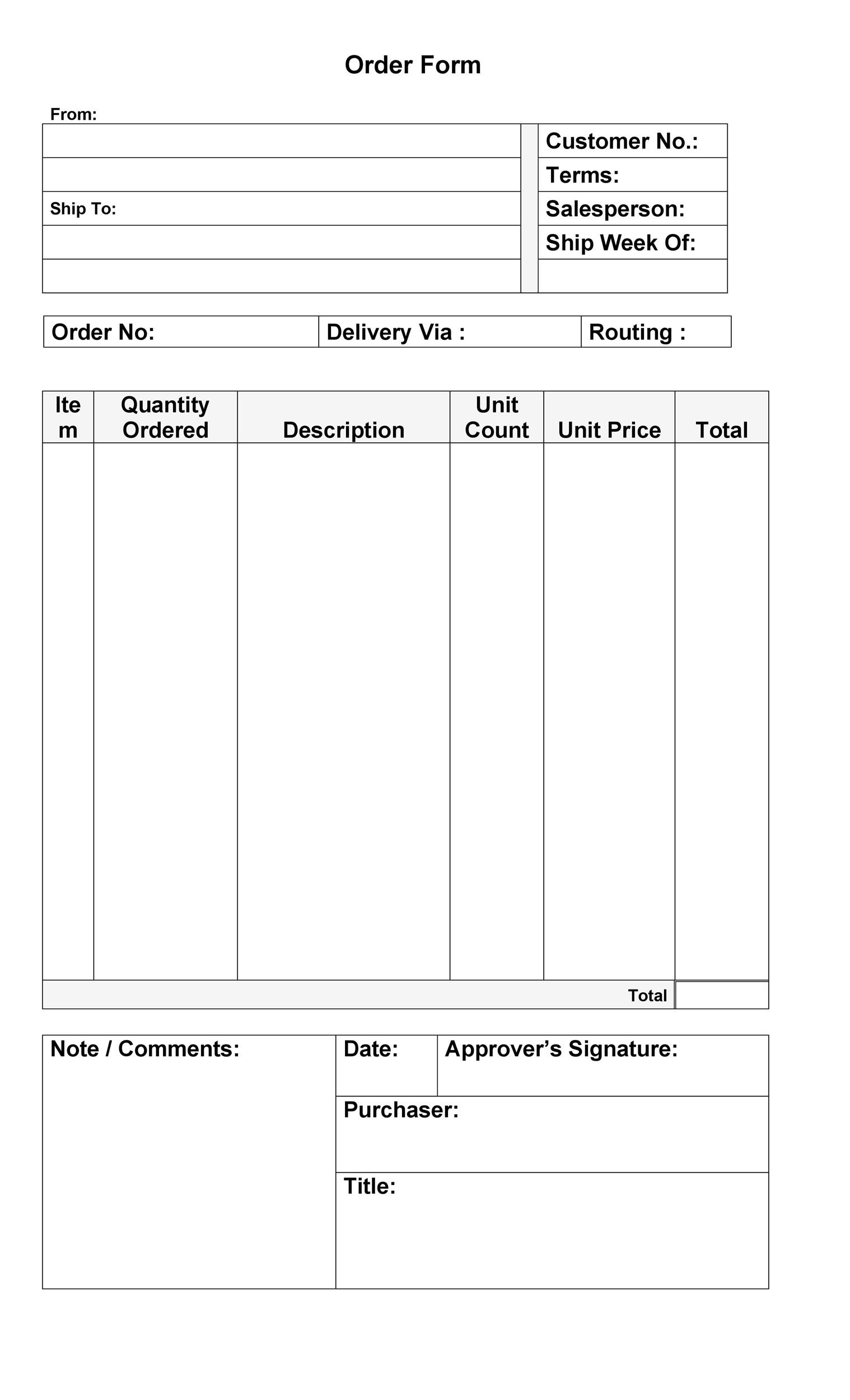 37 Free Purchase Order Templates in Word  Excel - purchase order template microsoft word