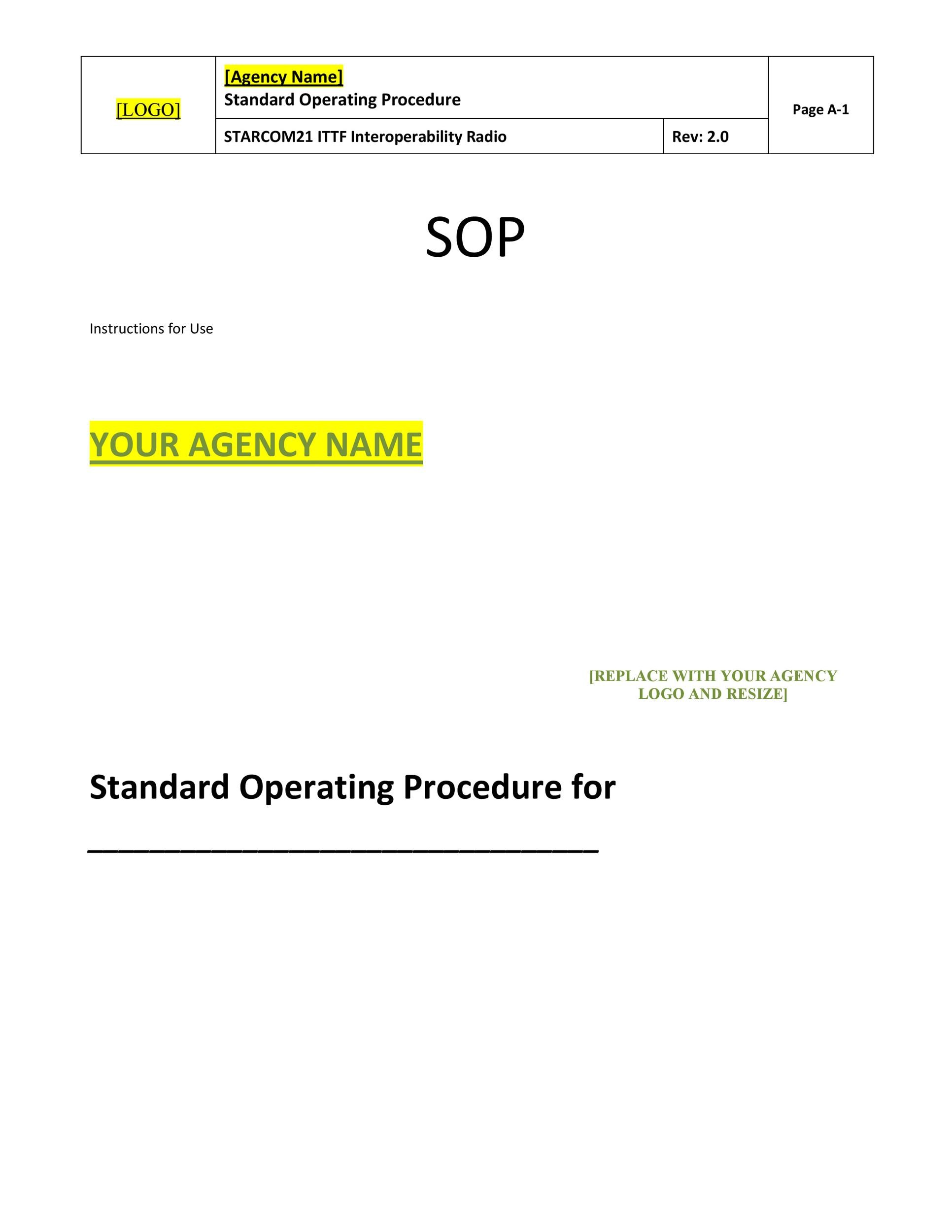 procedure heading styles sop for securitysecurity conduct 1 at all - Free Sop