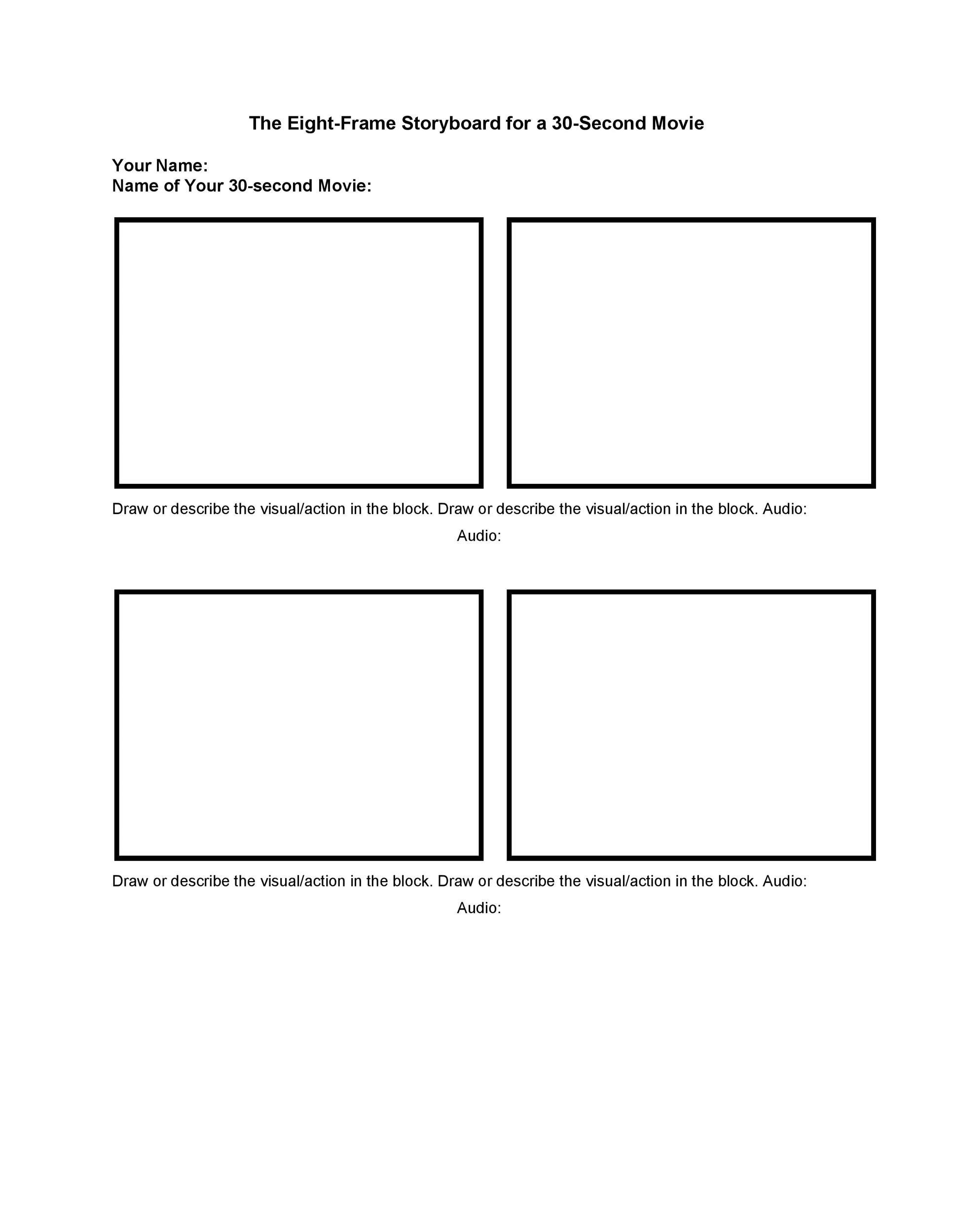 40 Professional Storyboard Templates \ Examples - visual storyboards
