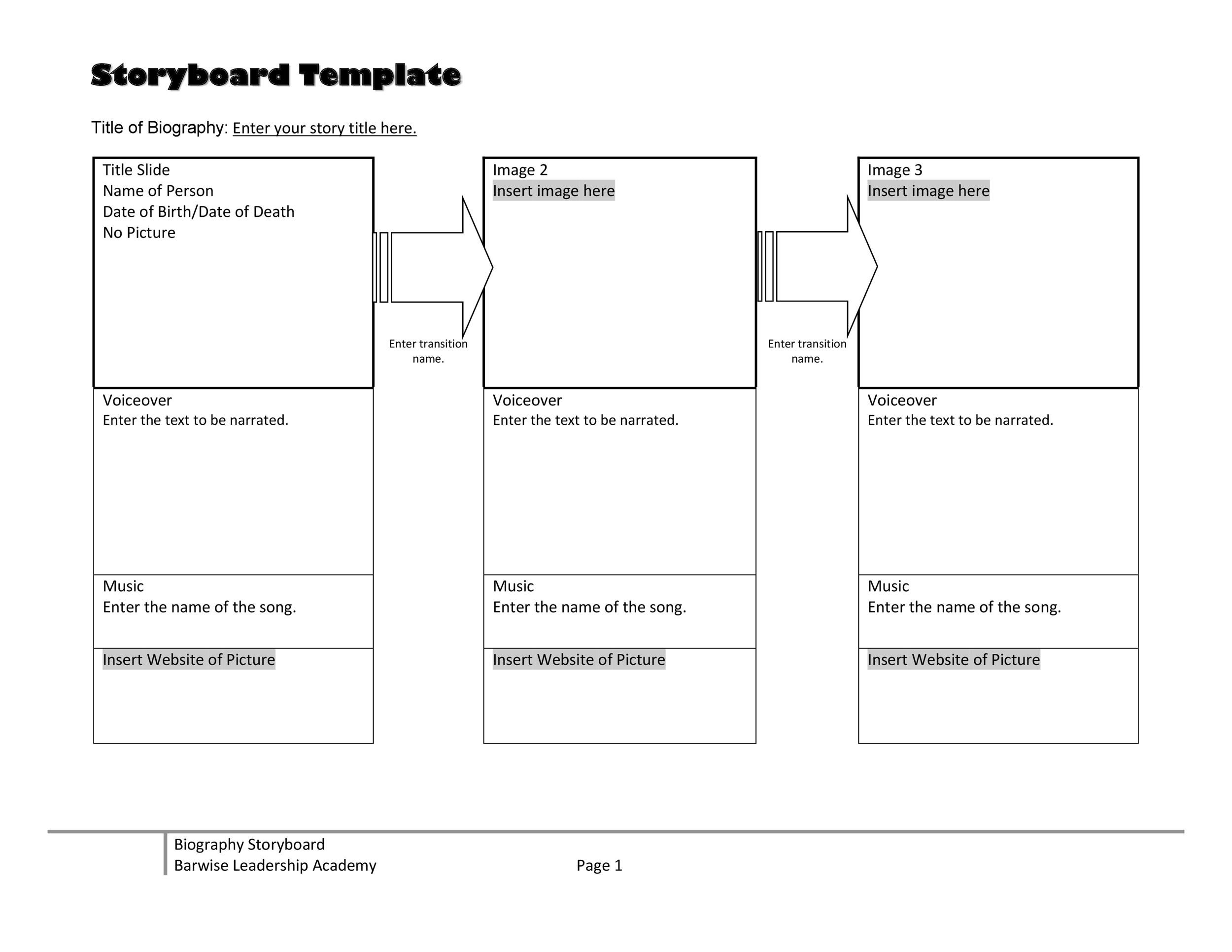 40 Professional Storyboard Templates \ Examples - website storyboard