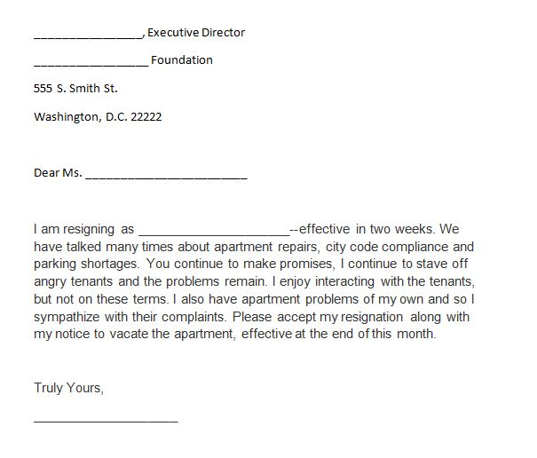 40 Two Weeks Notice Letters  Resignation Letter Templates - 2 weeks notice letter format