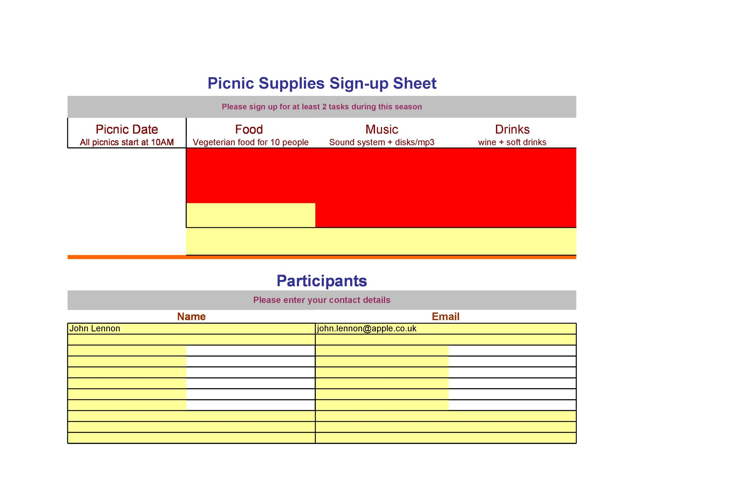 40 Sign Up Sheet / Sign In Sheet Templates (Word  Excel) - how to create a signup sheet in word