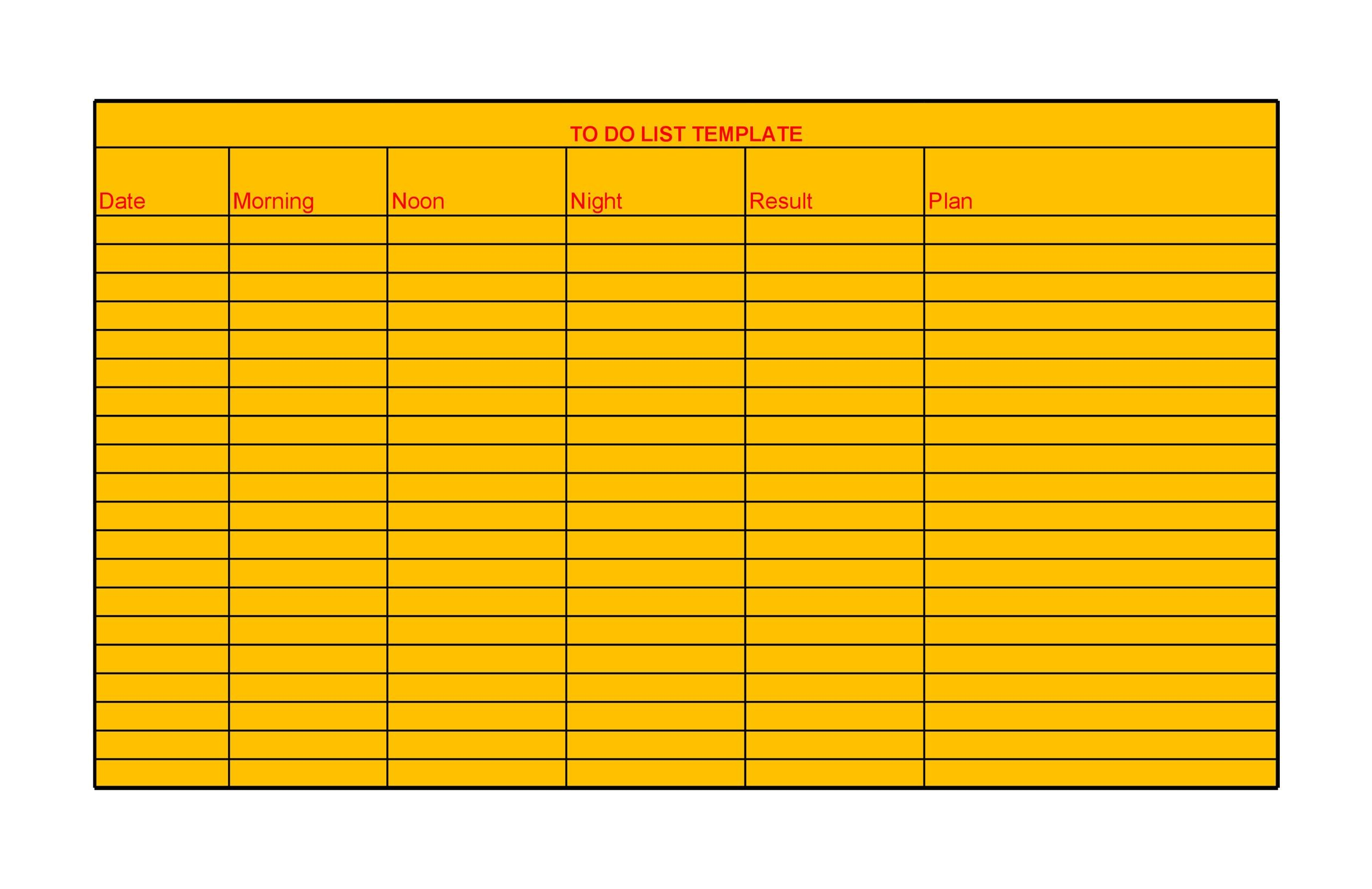 50+ Printable To Do List  Checklist Templates (Excel + Word) - list template word