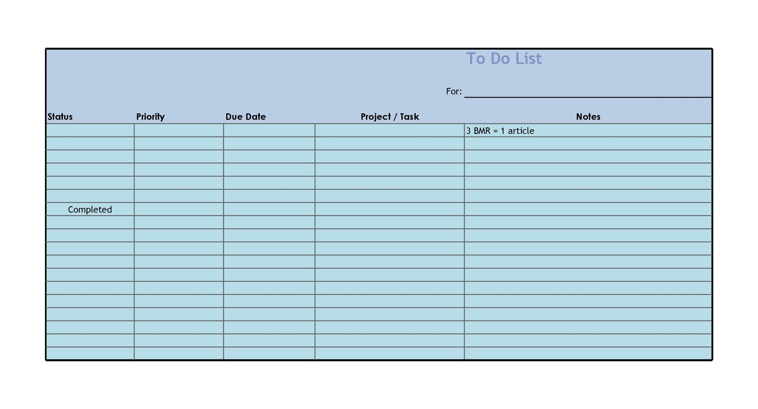 50+ Printable To Do List  Checklist Templates (Excel + Word)