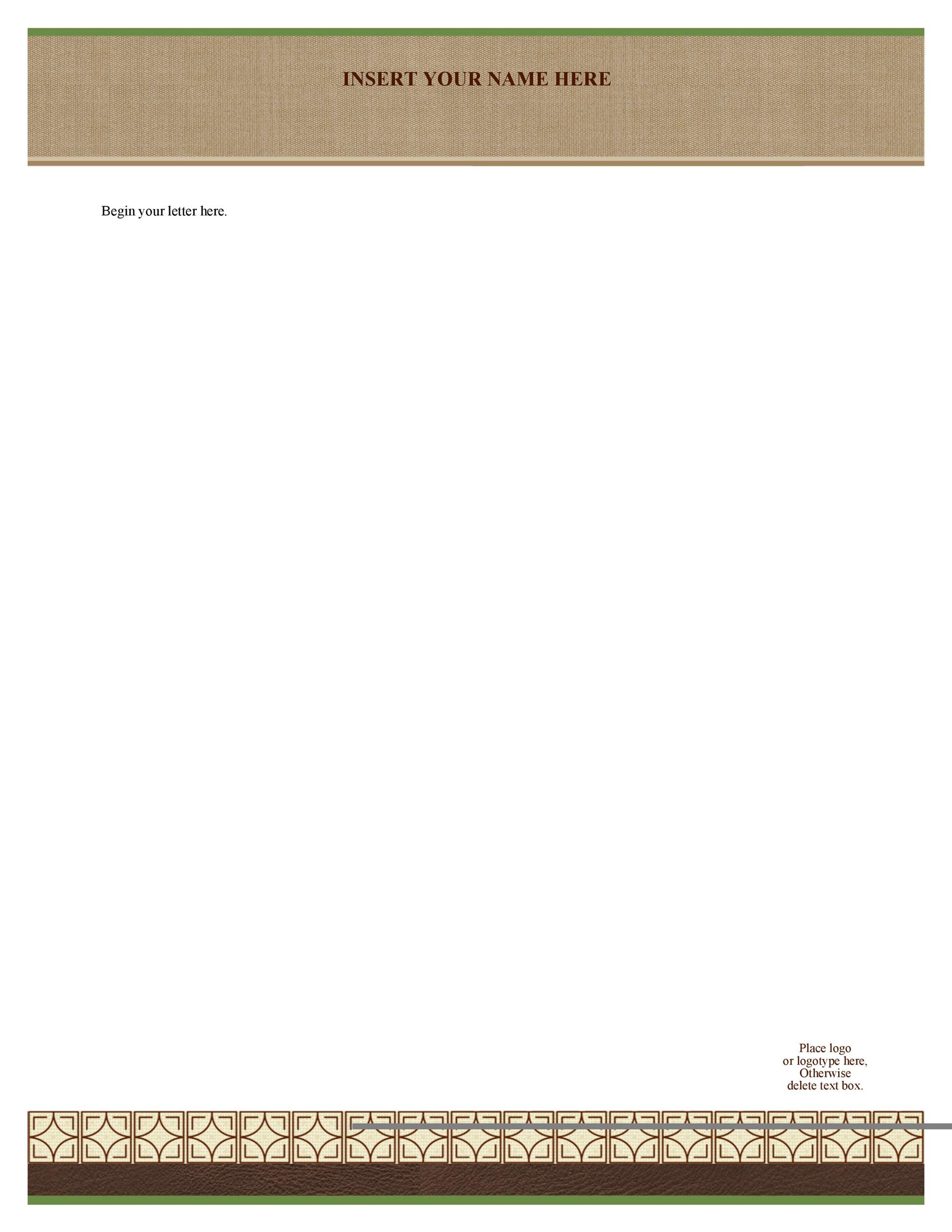 45+ Free Letterhead Templates  Examples (Company, Business, Personal) - Free Letterhead Samples