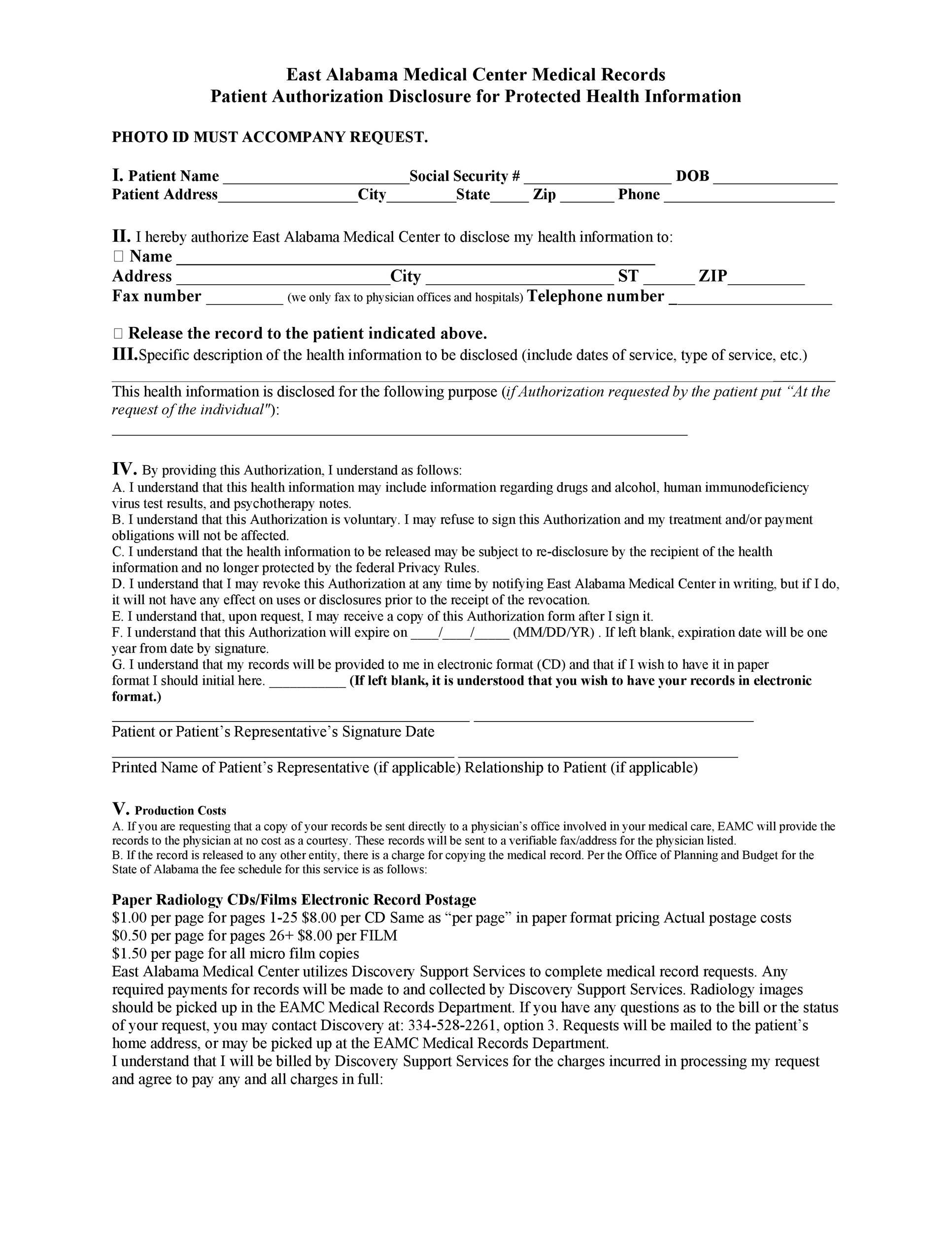 Medical Release Of Information Form Child Medication - medical records release form
