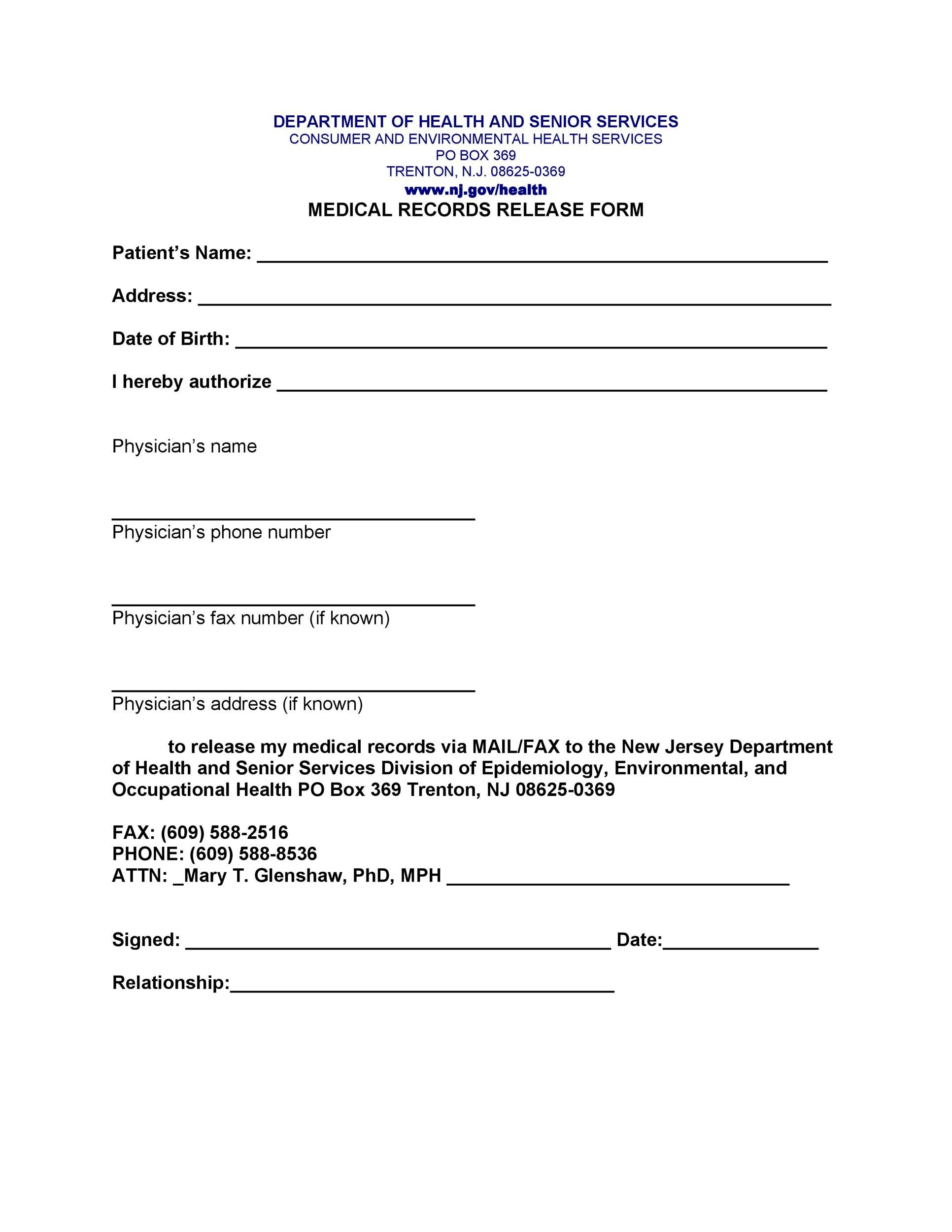 medical discharge form template medical discharge form template - medical release of information form template