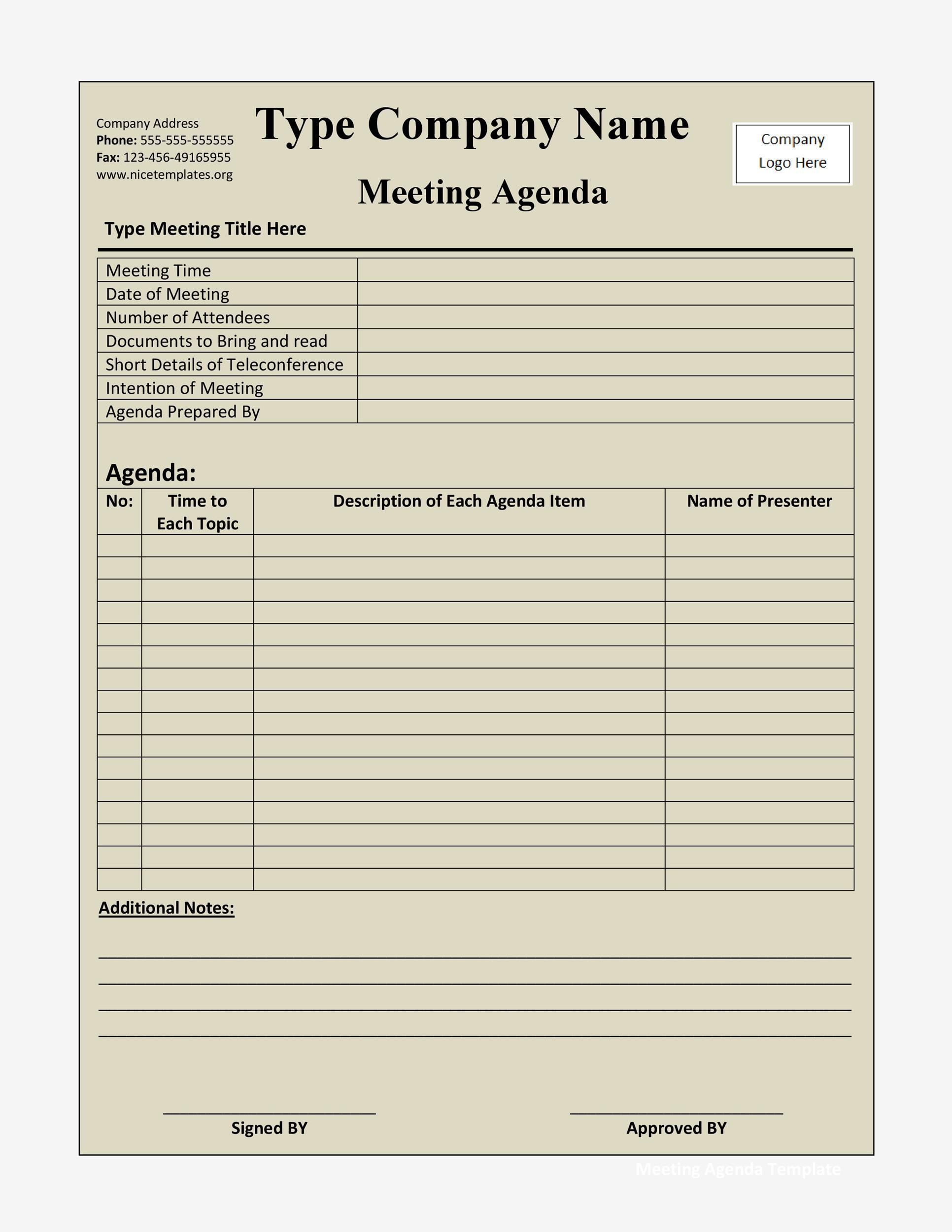 46 Effective Meeting Agenda Templates - Template Lab - meetings template