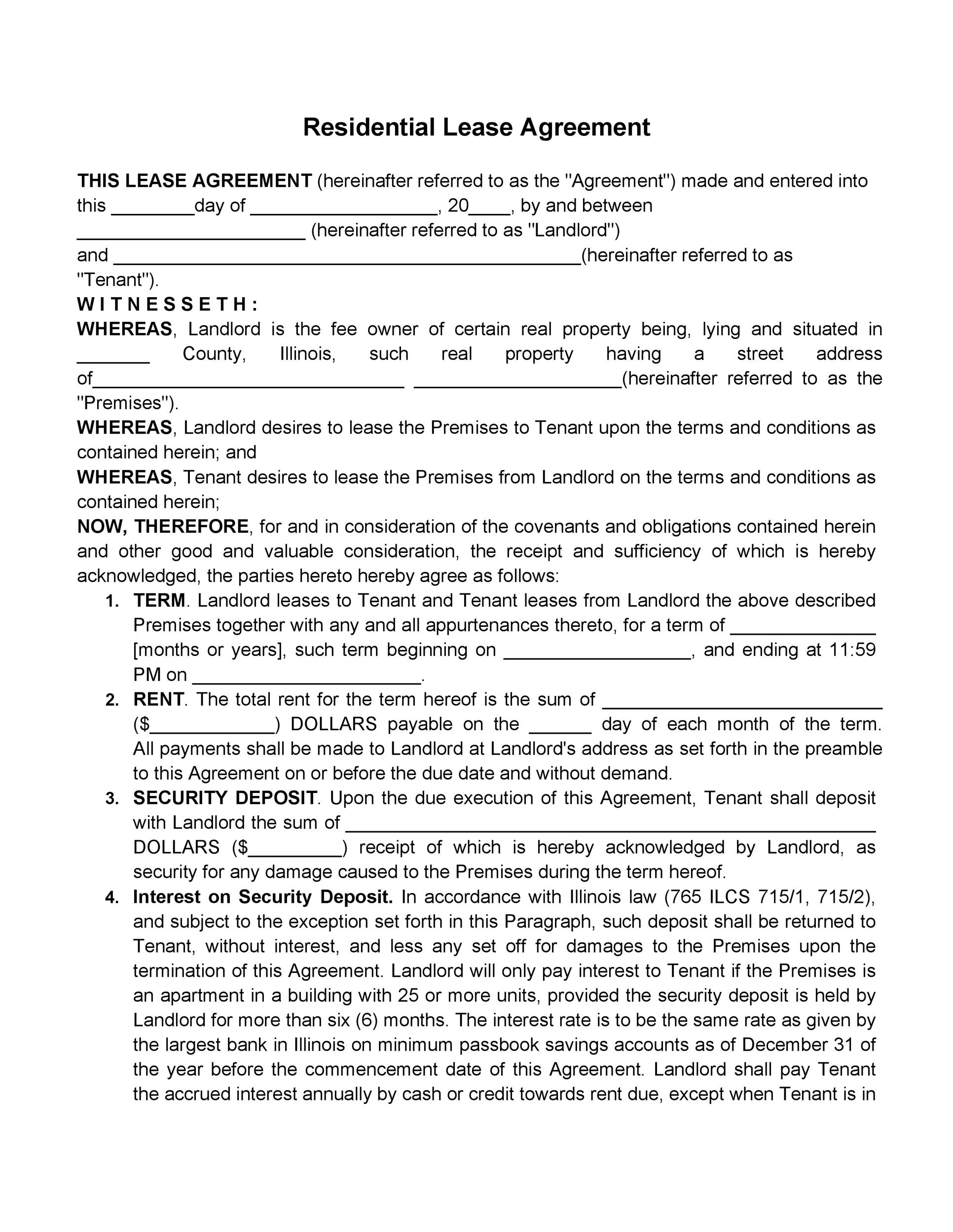 42 Rental Application Forms  Lease Agreement Templates - rental agreement