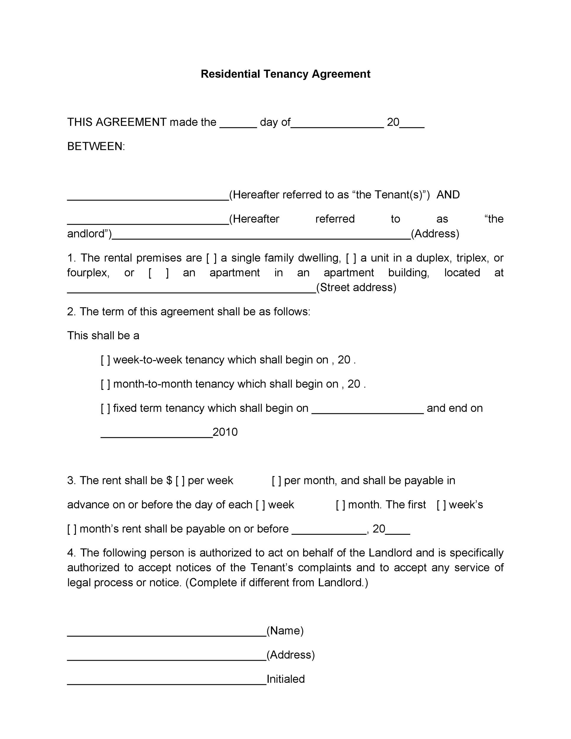 42 Rental Application Forms  Lease Agreement Templates - printable rental agreement