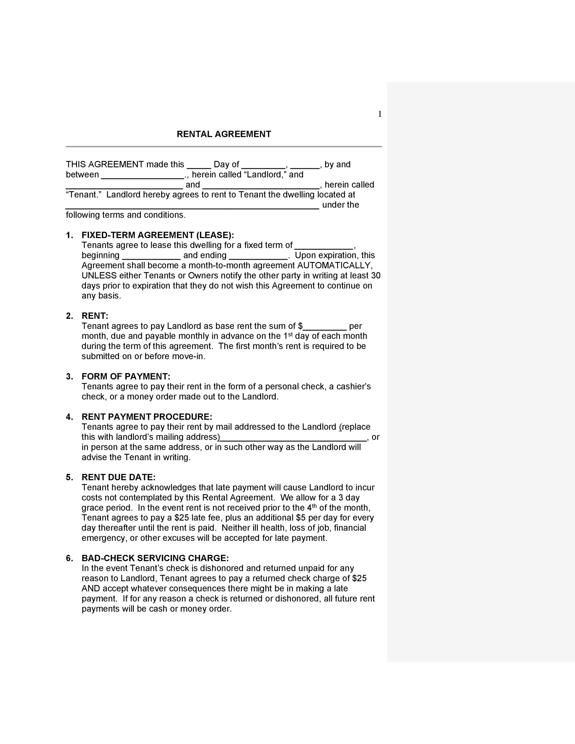 42 Rental Application Forms  Lease Agreement Templates - what is a lease between landlord and tenant