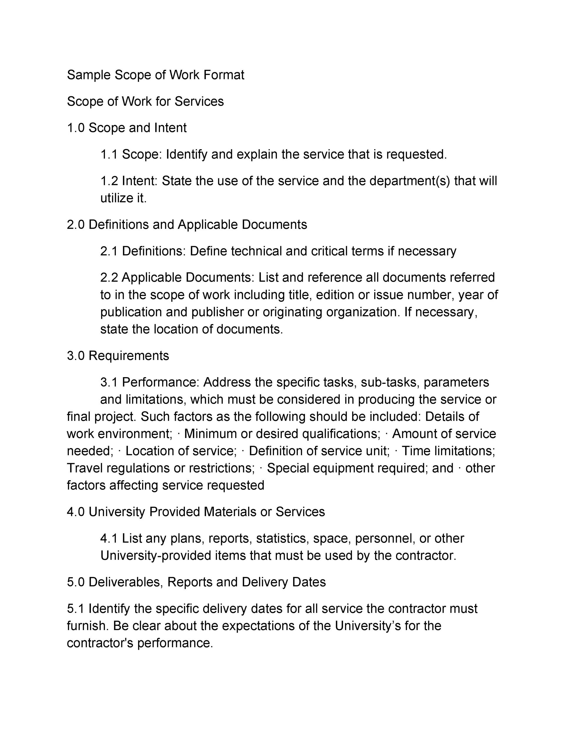 30 Ready-To-Use Scope Of Work Templates \ ExamplesSample Contract - contract summary template