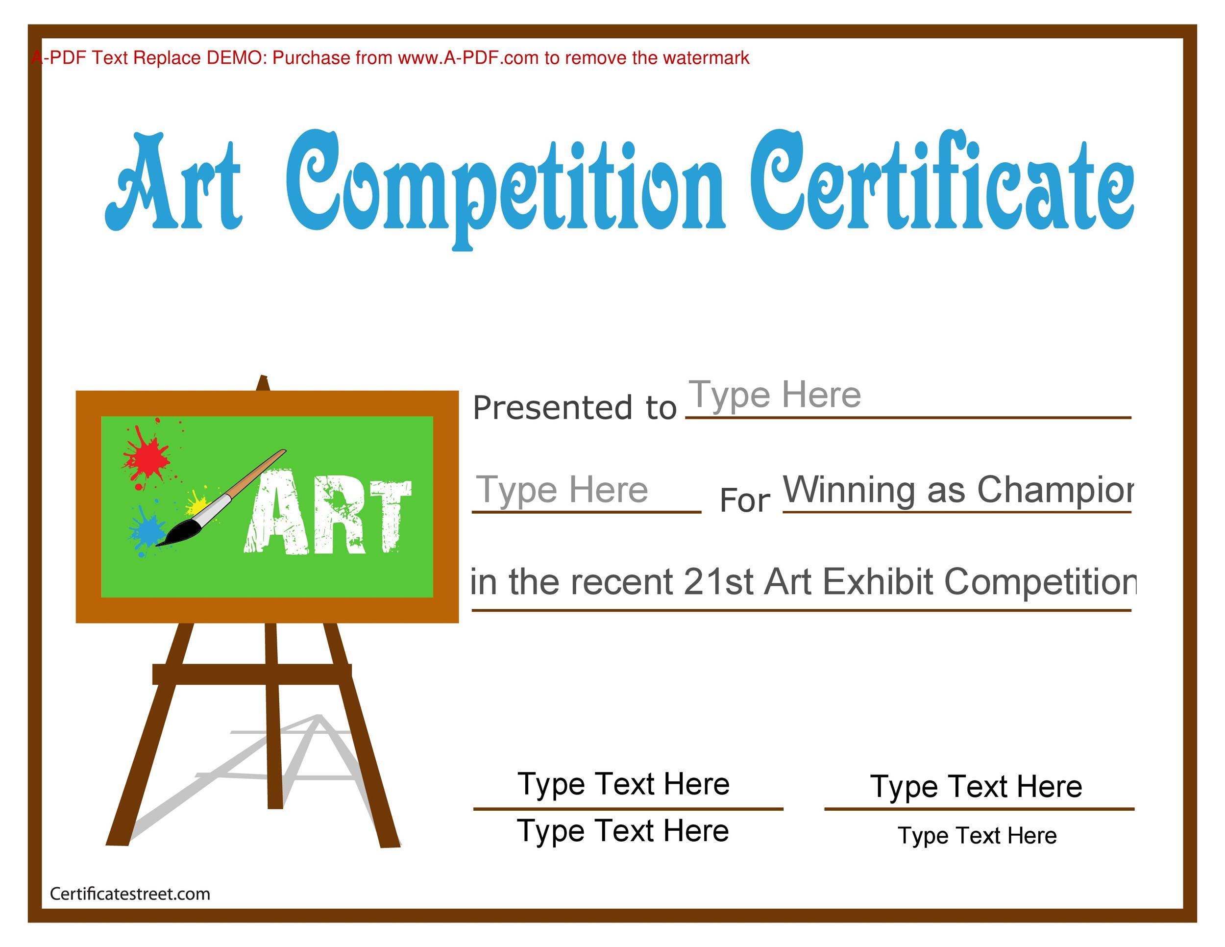 contest winner certificate template - Jolivibramusic
