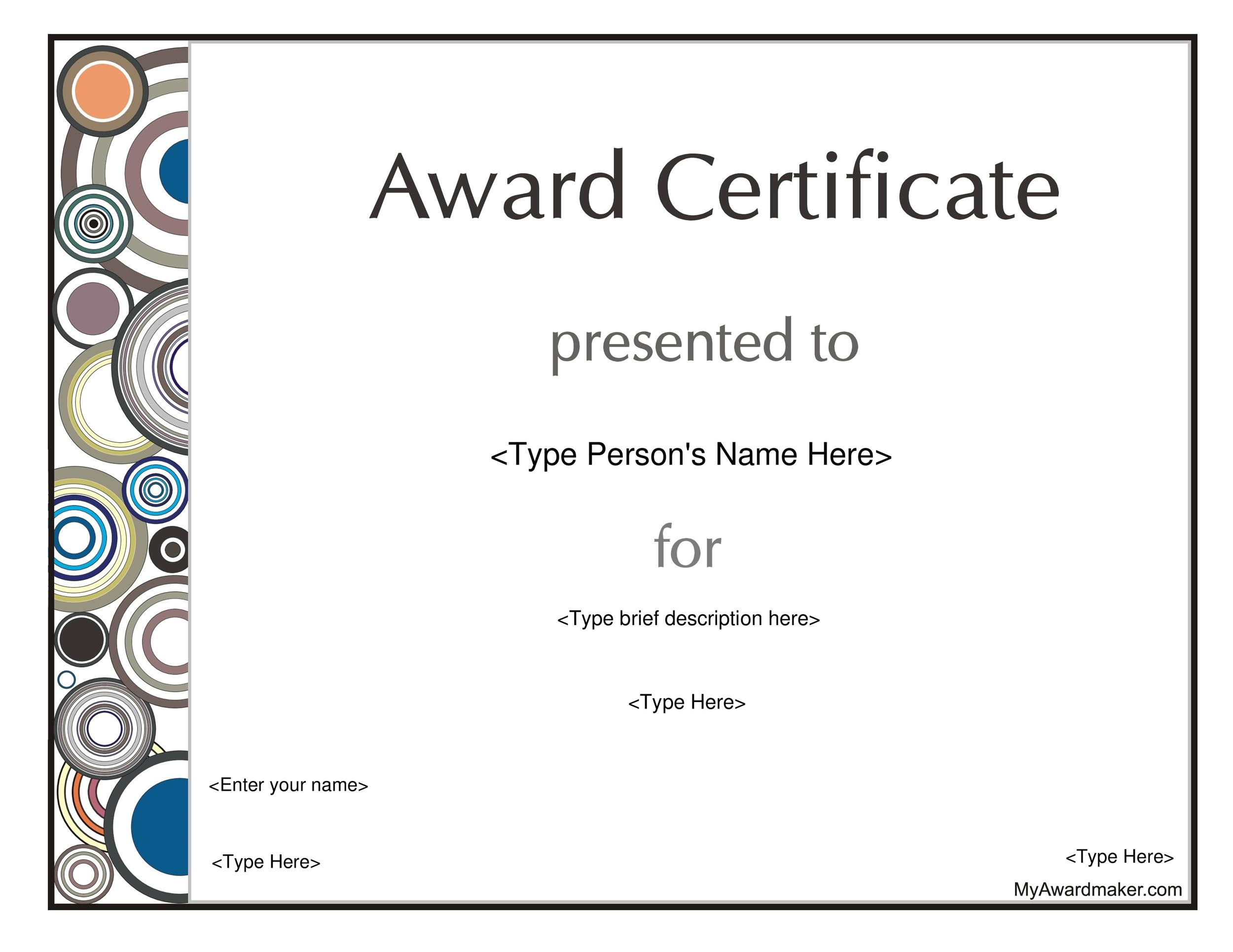 50 Amazing Award Certificate Templates ᐅ Template Lab