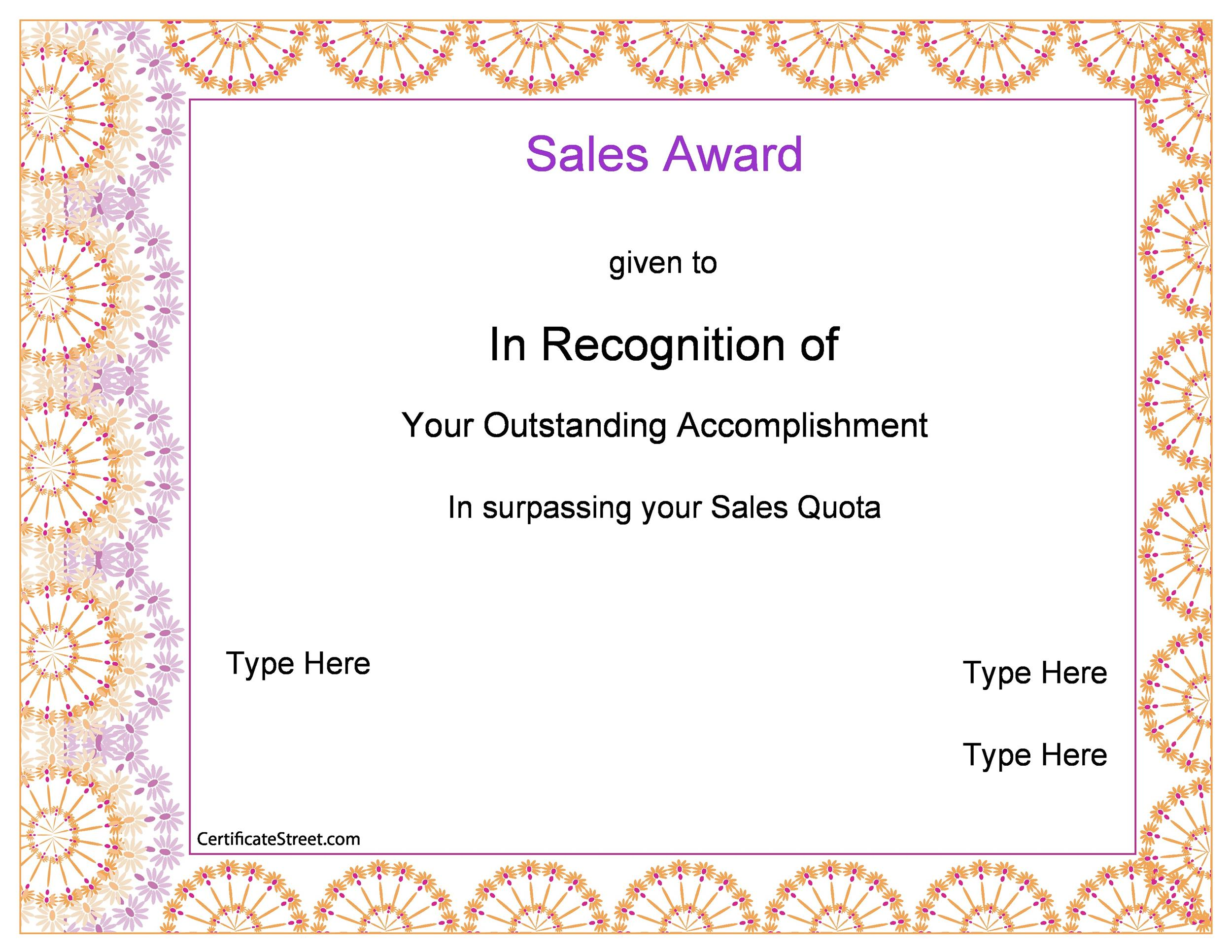 sales award templates - Boatjeremyeaton - Award Paper Template