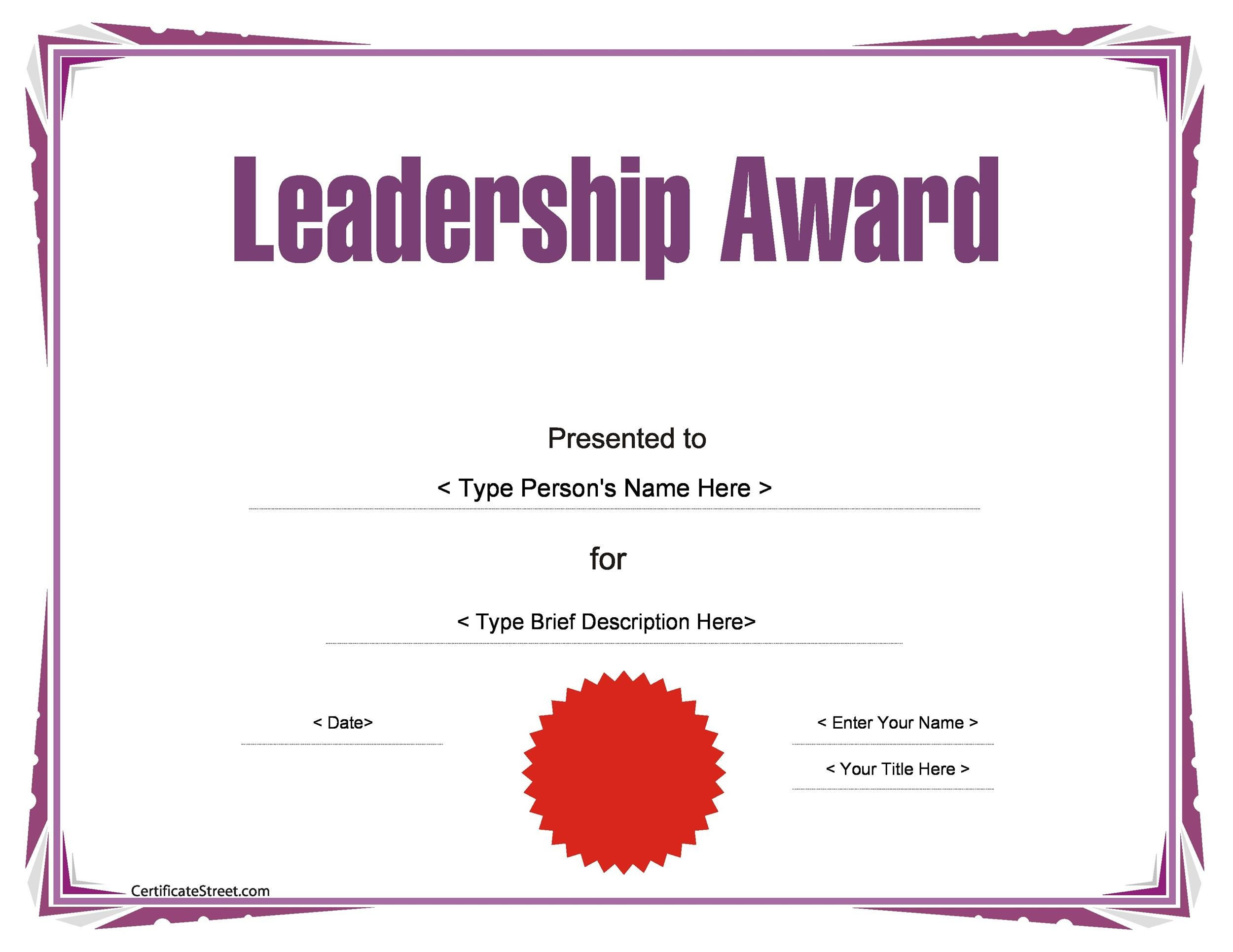 50 Amazing Award Certificate Templates - Template Lab