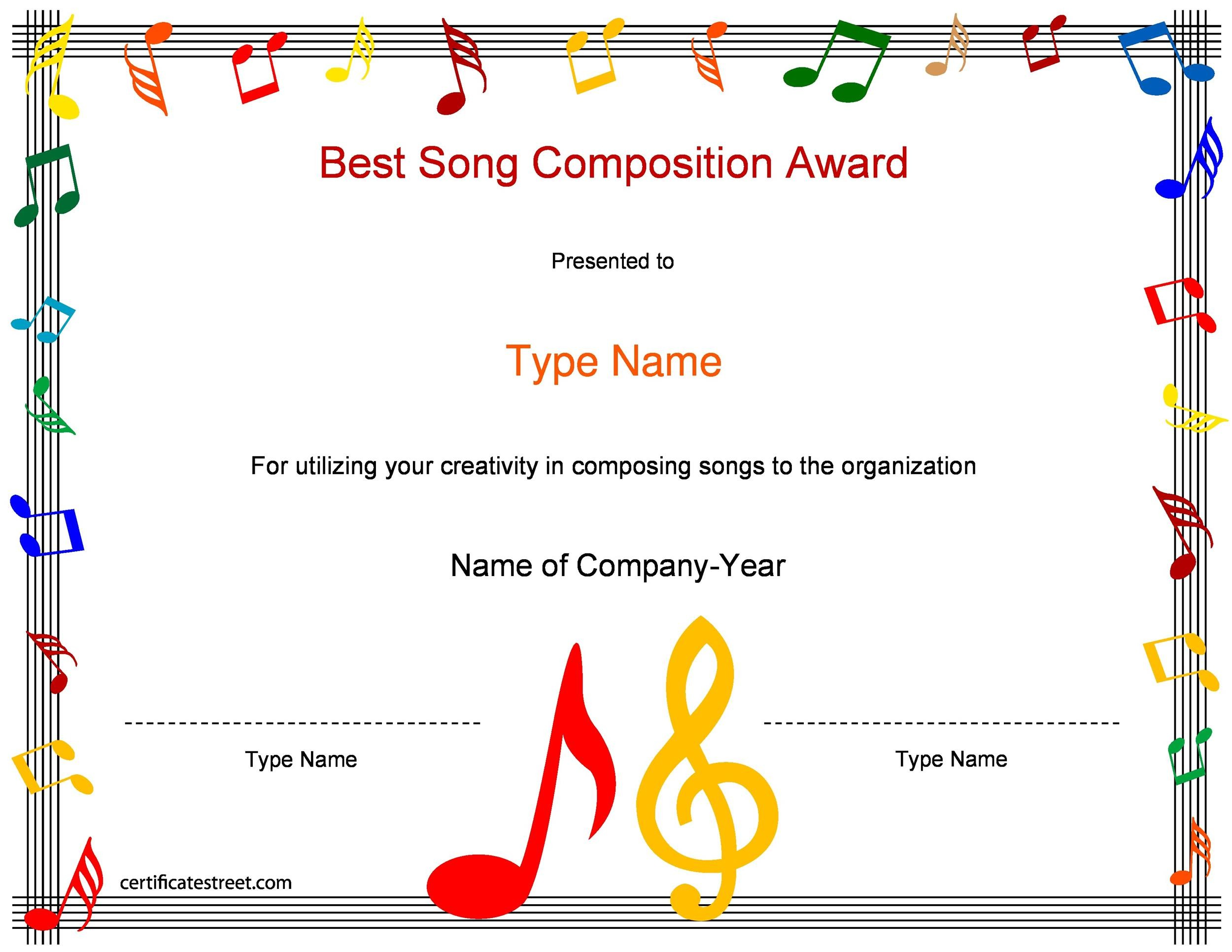 50 Amazing Award Certificate Templates - Template Lab - certificate samples