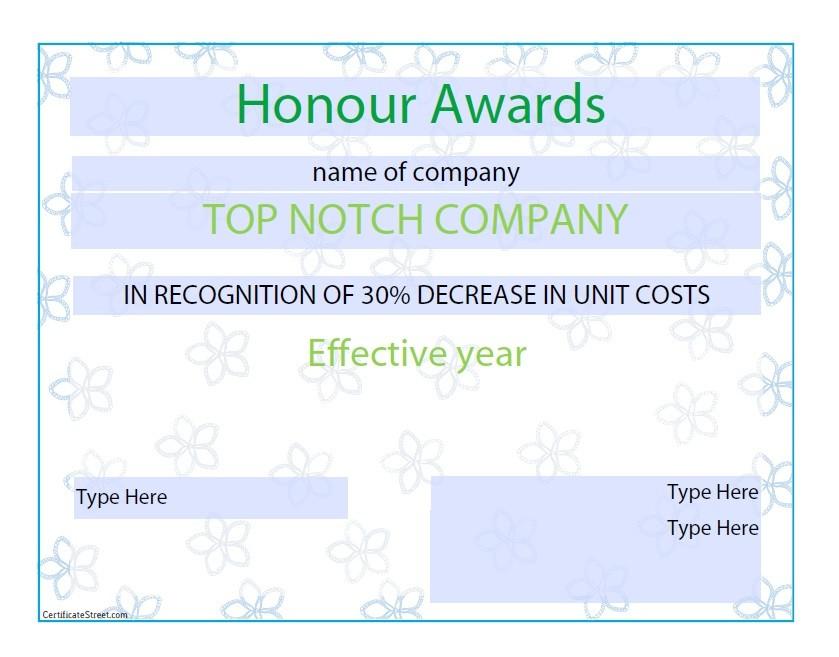 50 Amazing Award Certificate Templates - Template Lab
