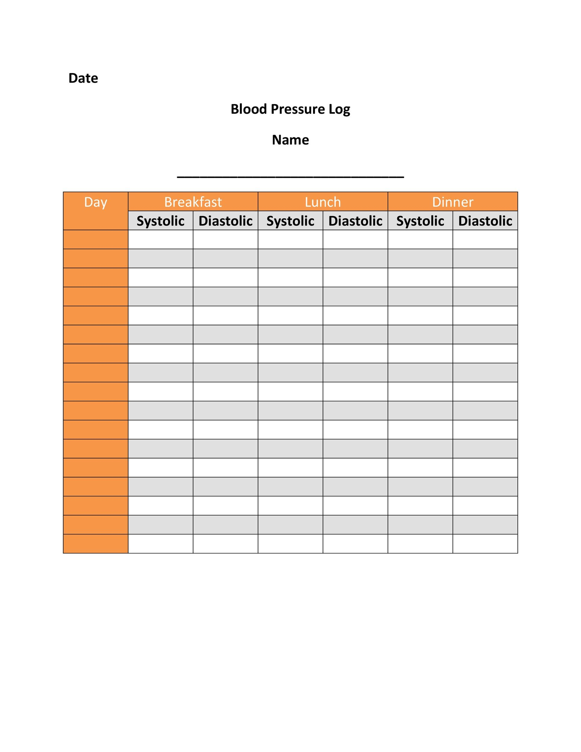 blood pressure log book