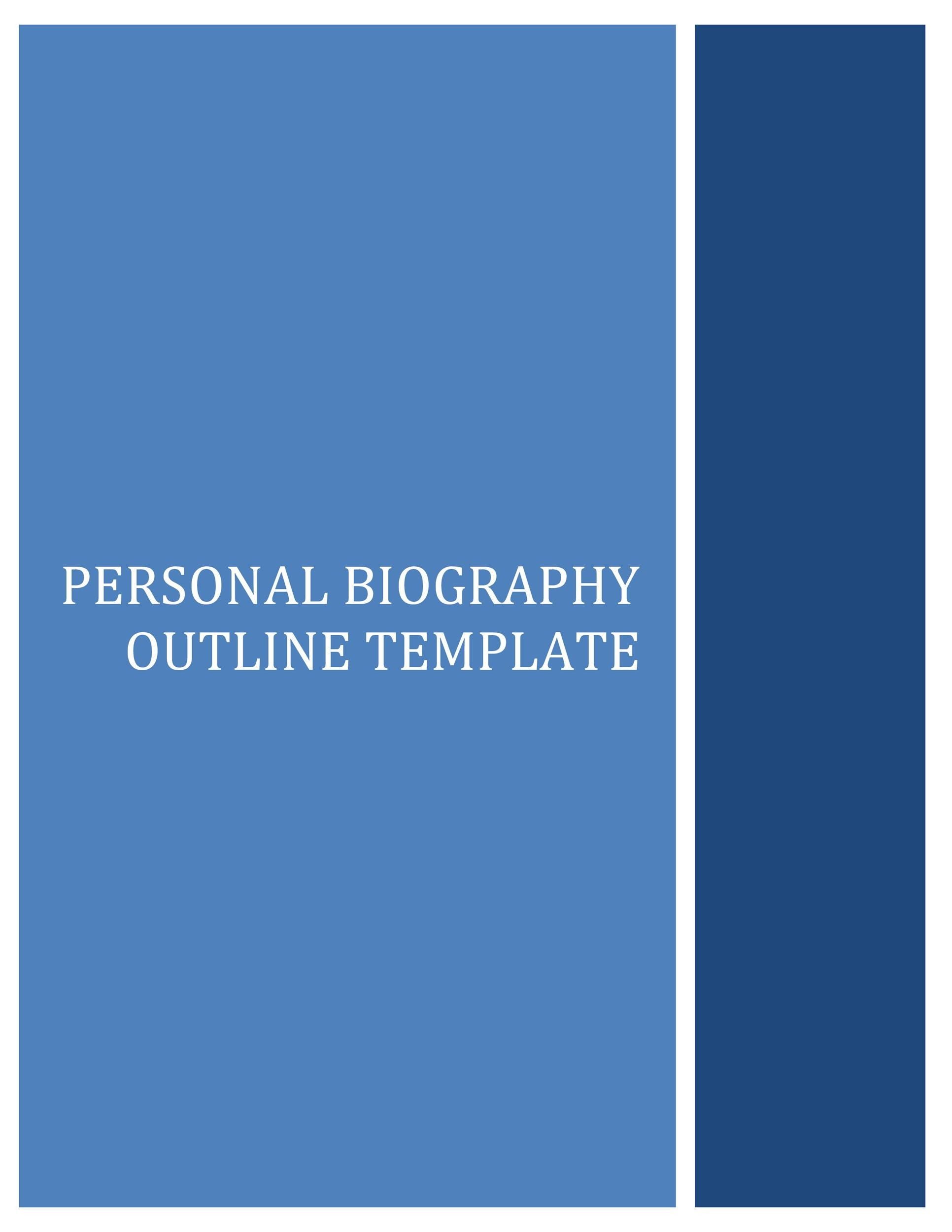 45 Biography Templates \ Examples (Personal, Professional) - microsoft word biography template