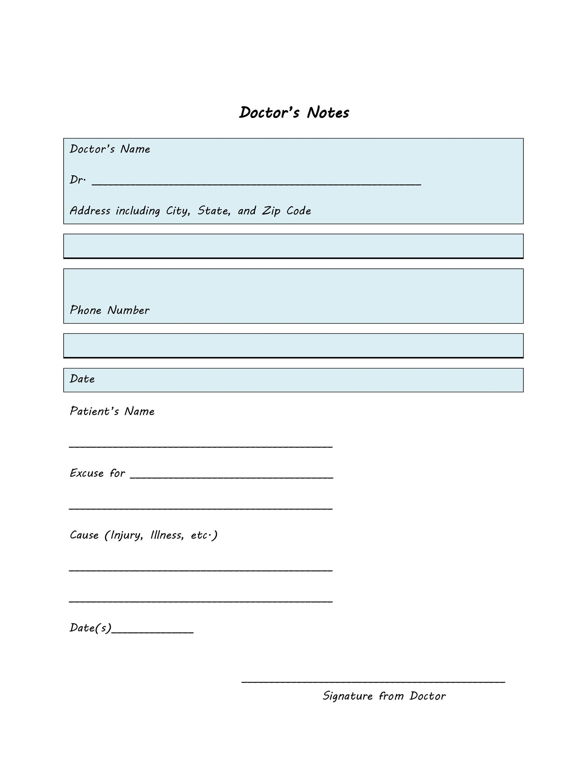 25+ Free Doctor Note / Excuse Templates - Template Lab - doctors note template