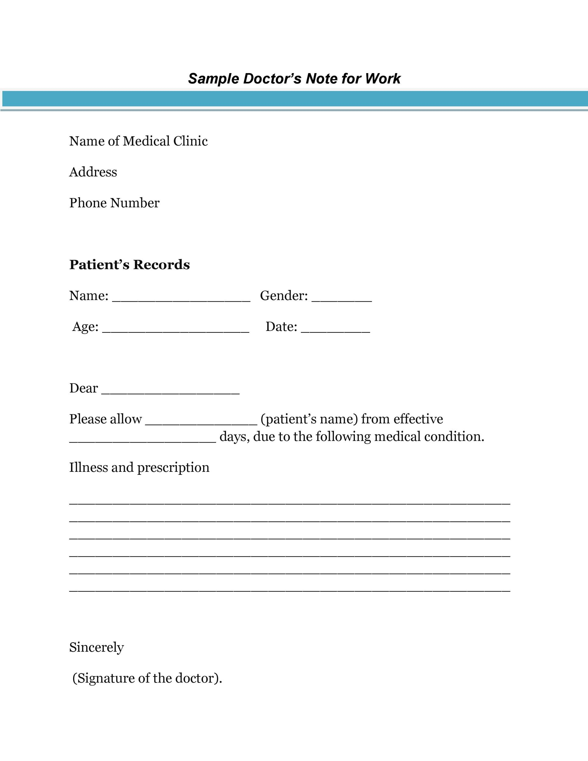 25+ Free Doctor Note / Excuse Templates - Template Lab - medical note