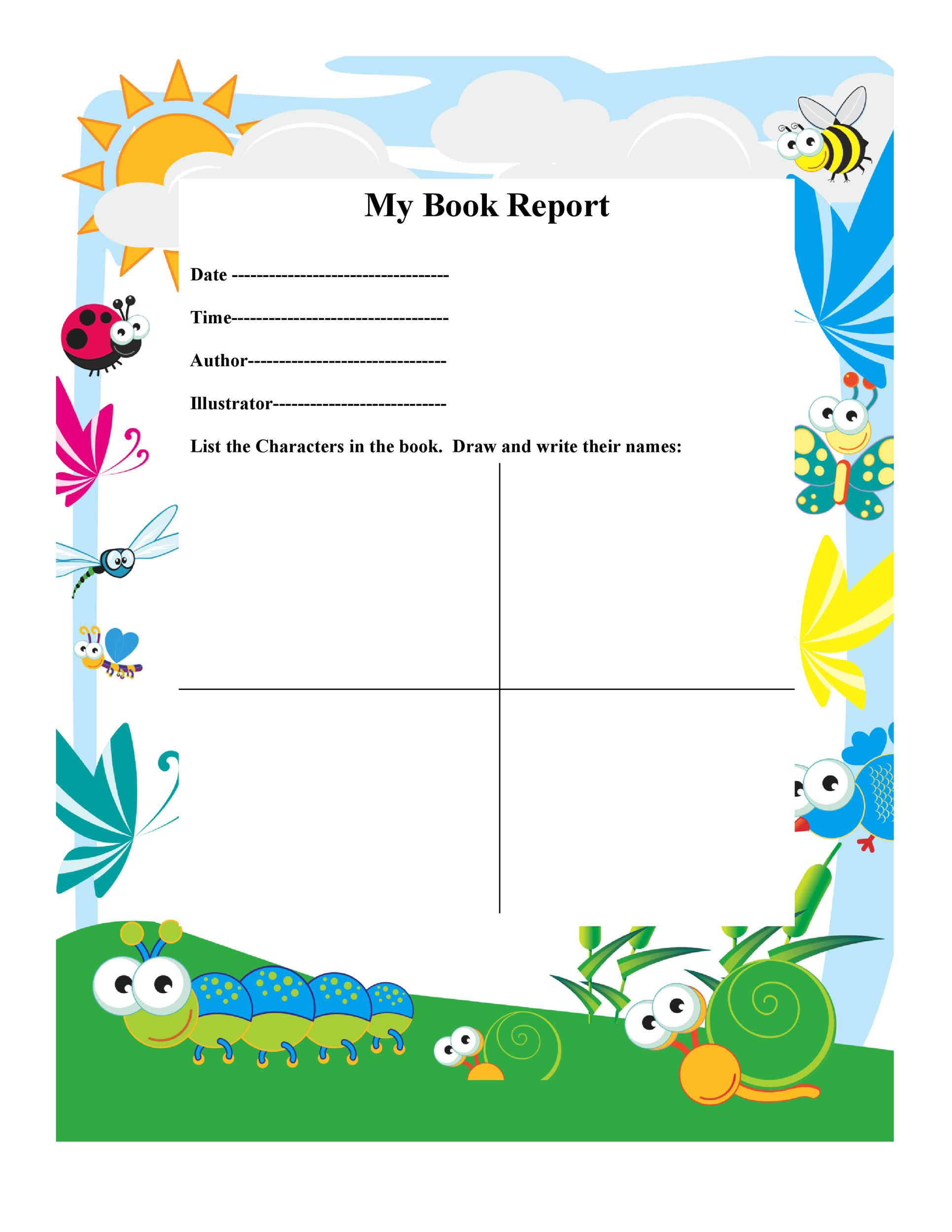 30 Book Report Templates  Reading Worksheets - book report template free
