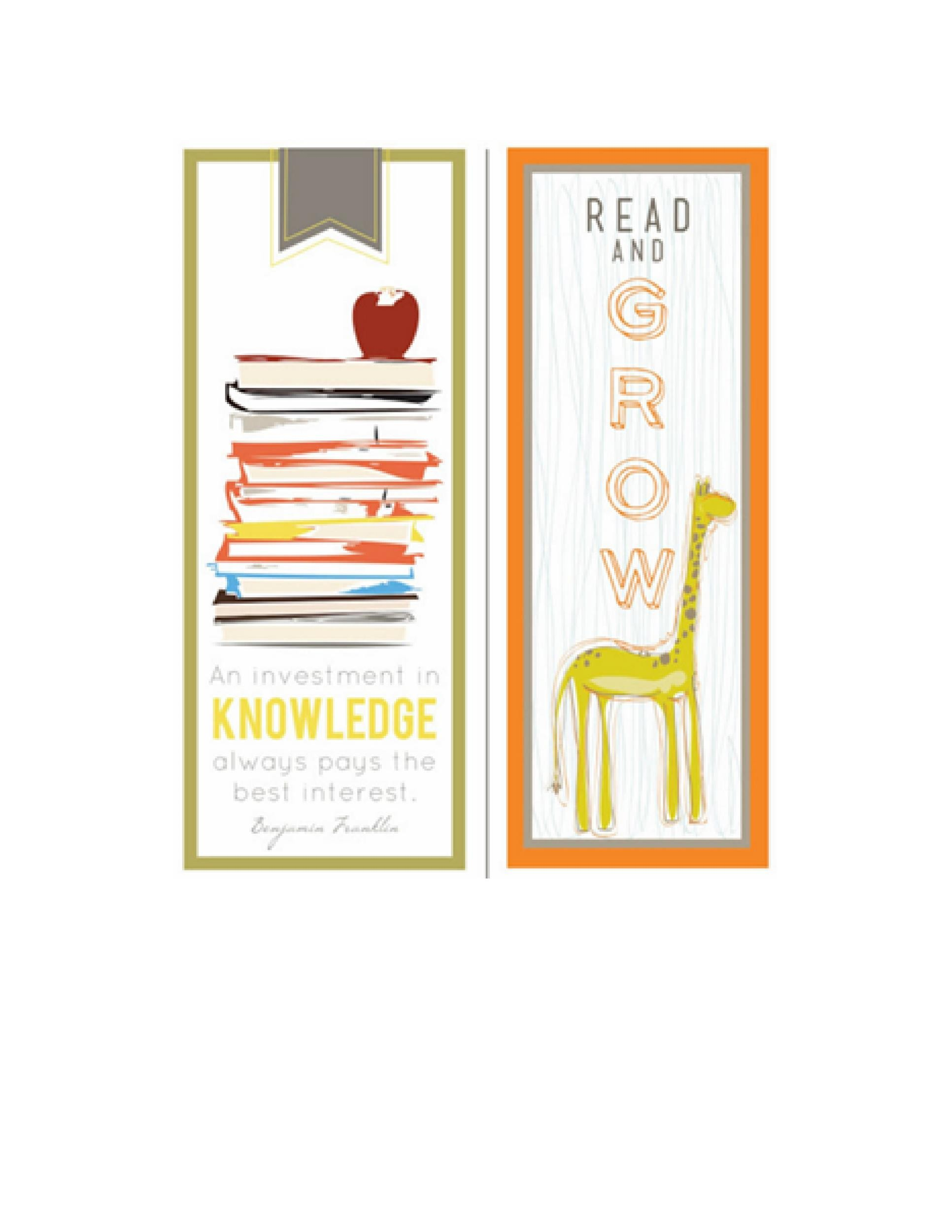 50 Free Printable Bookmark Templates - Template Lab - blank bookmark template