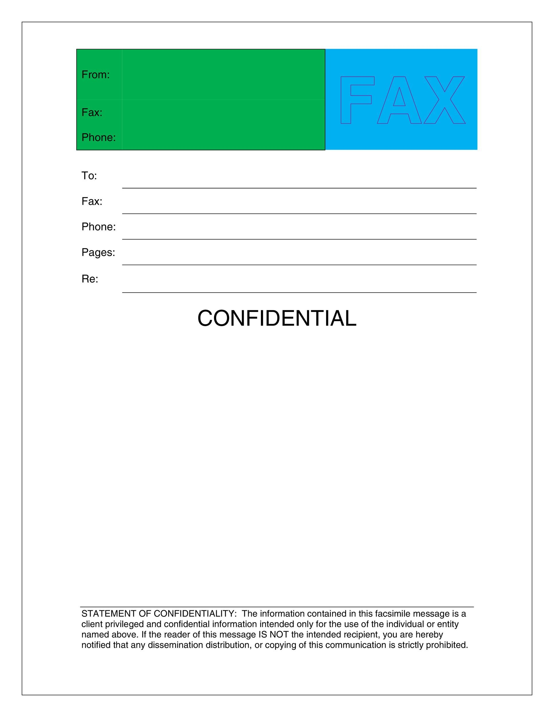40 Printable Fax Cover Sheet Templates - Template Lab - sample professional fax cover sheet template