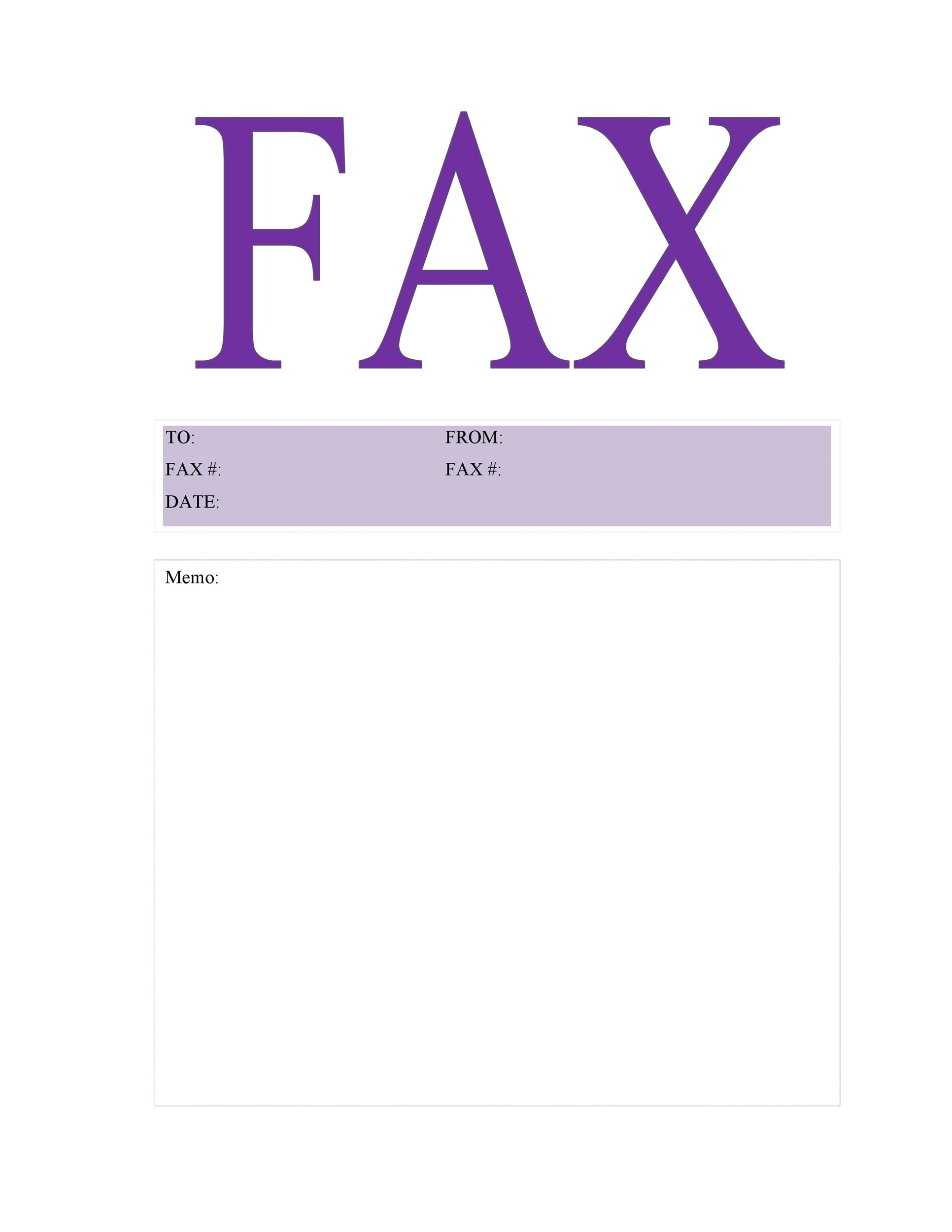 40 Printable Fax Cover Sheet Templates - Template Lab - fax cover sheet templates