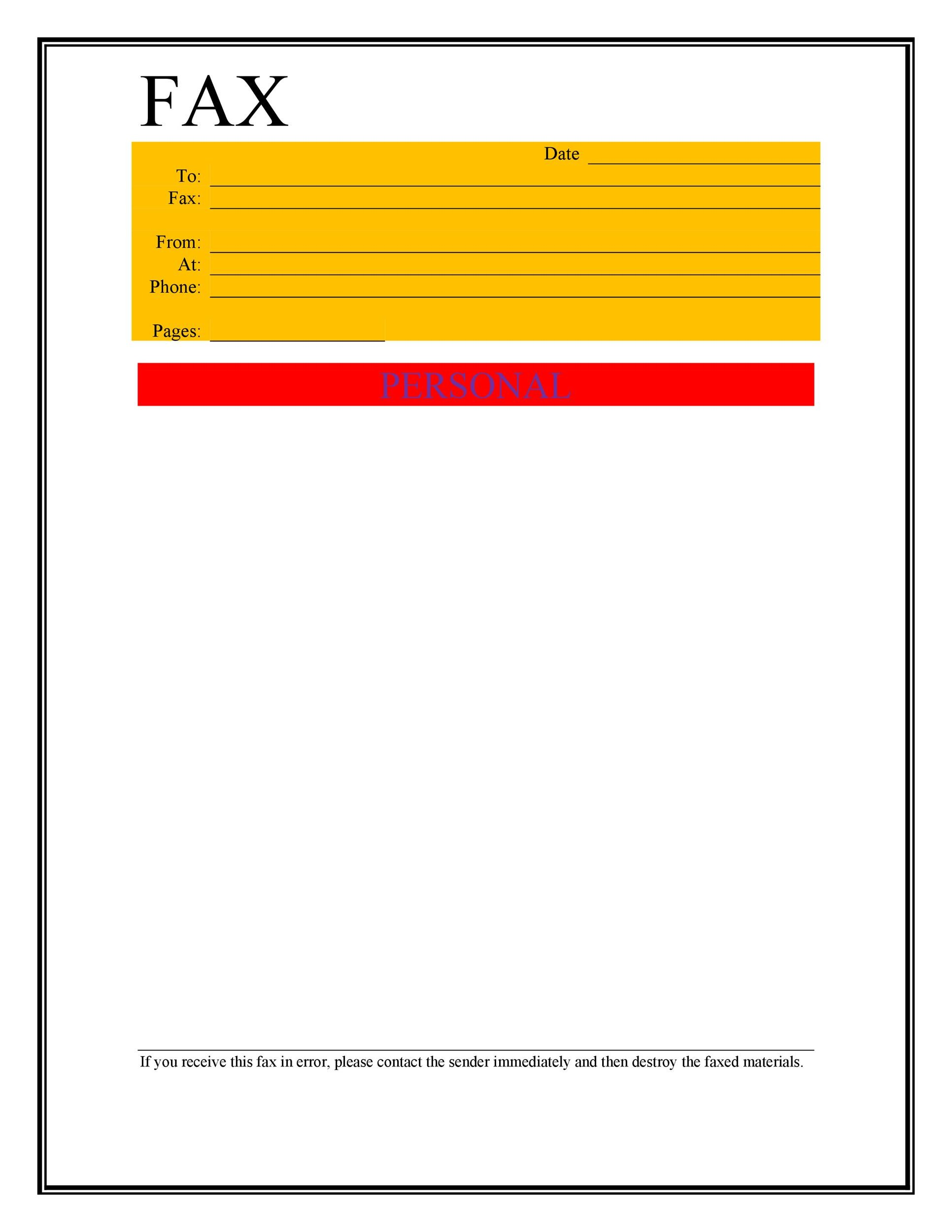 40 Printable Fax Cover Sheet Templates - Template Lab - Fax Cover Sheets Free Printable
