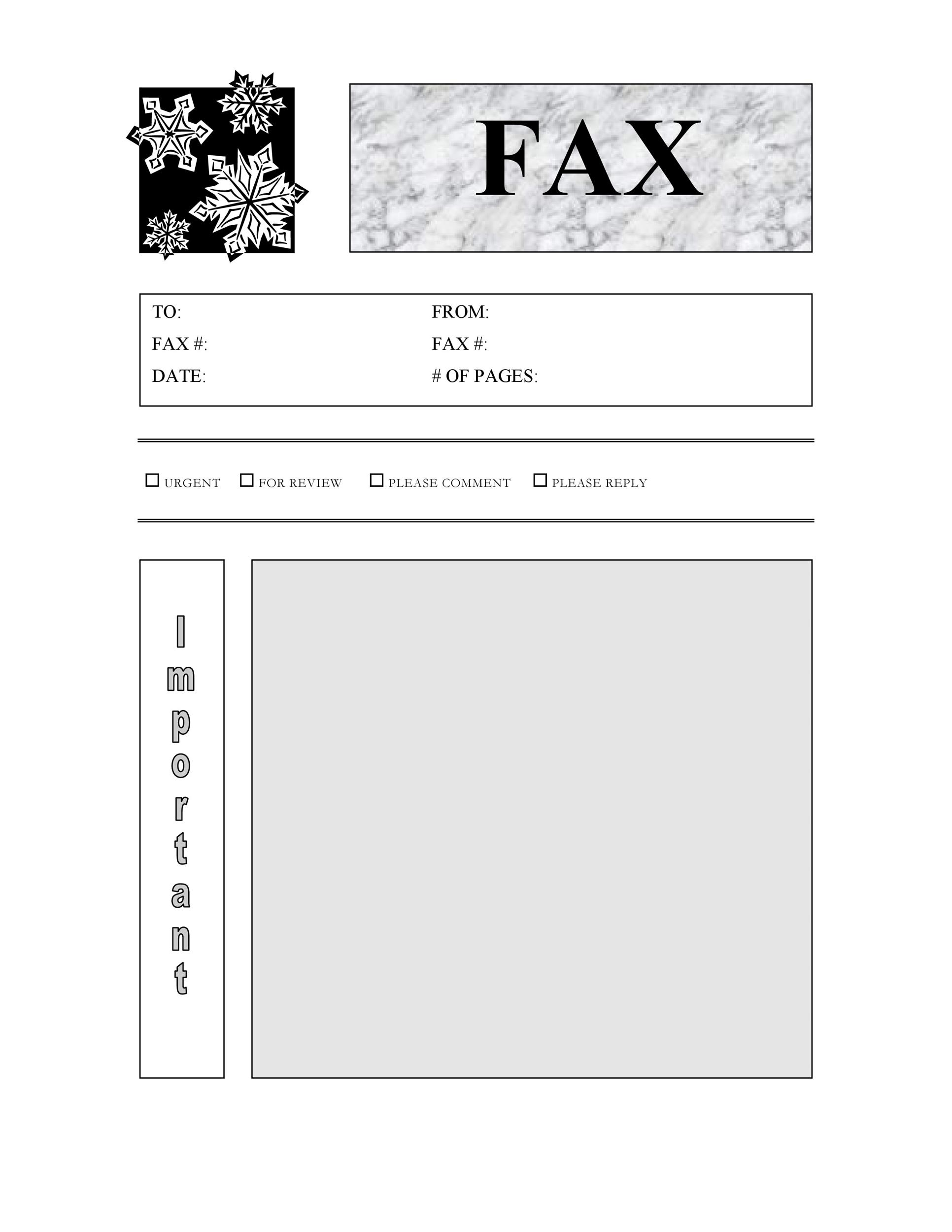 40 Printable Fax Cover Sheet Templates - Template Lab - Fax Cover Sheet For Word