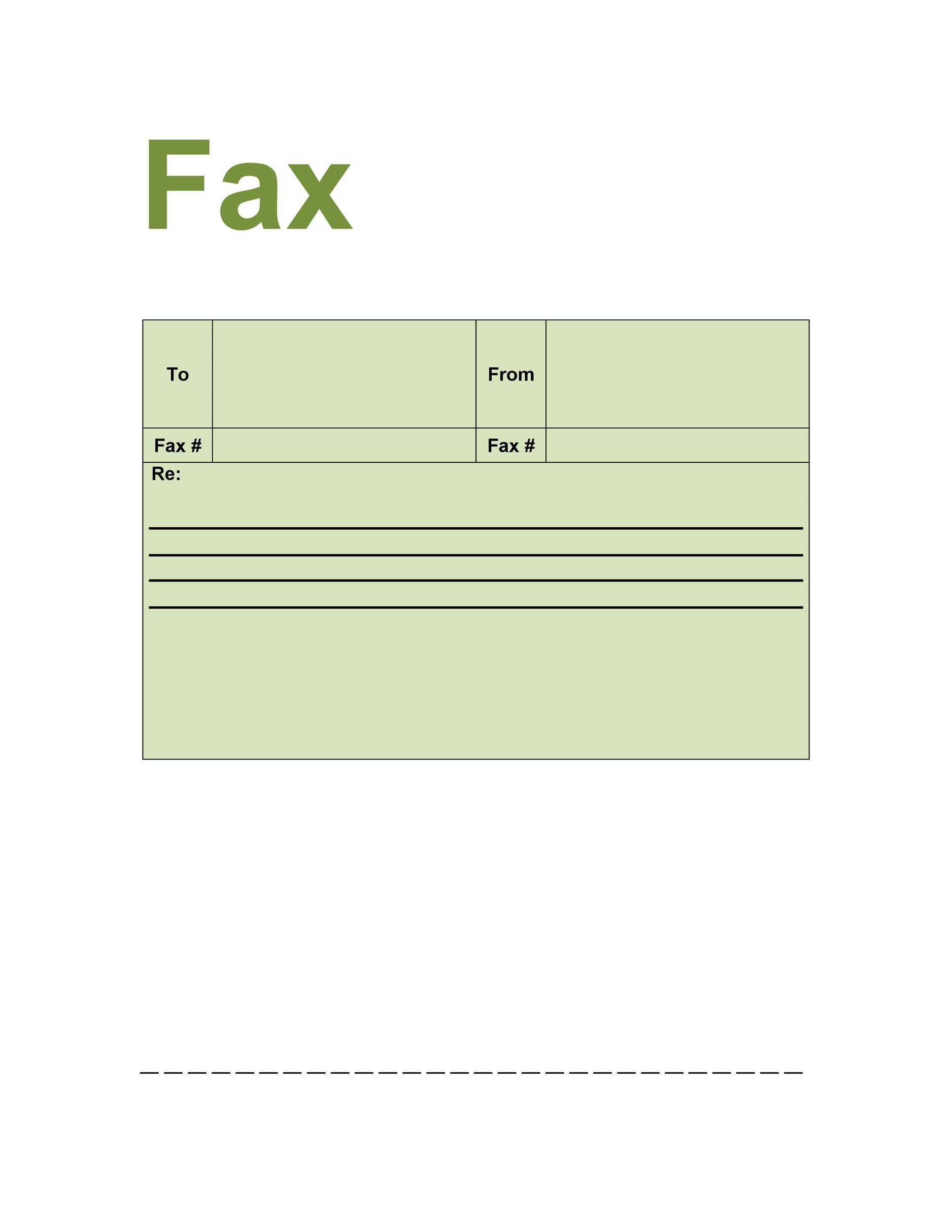 40 Printable Fax Cover Sheet Templates - Template Lab - printable fax cover page